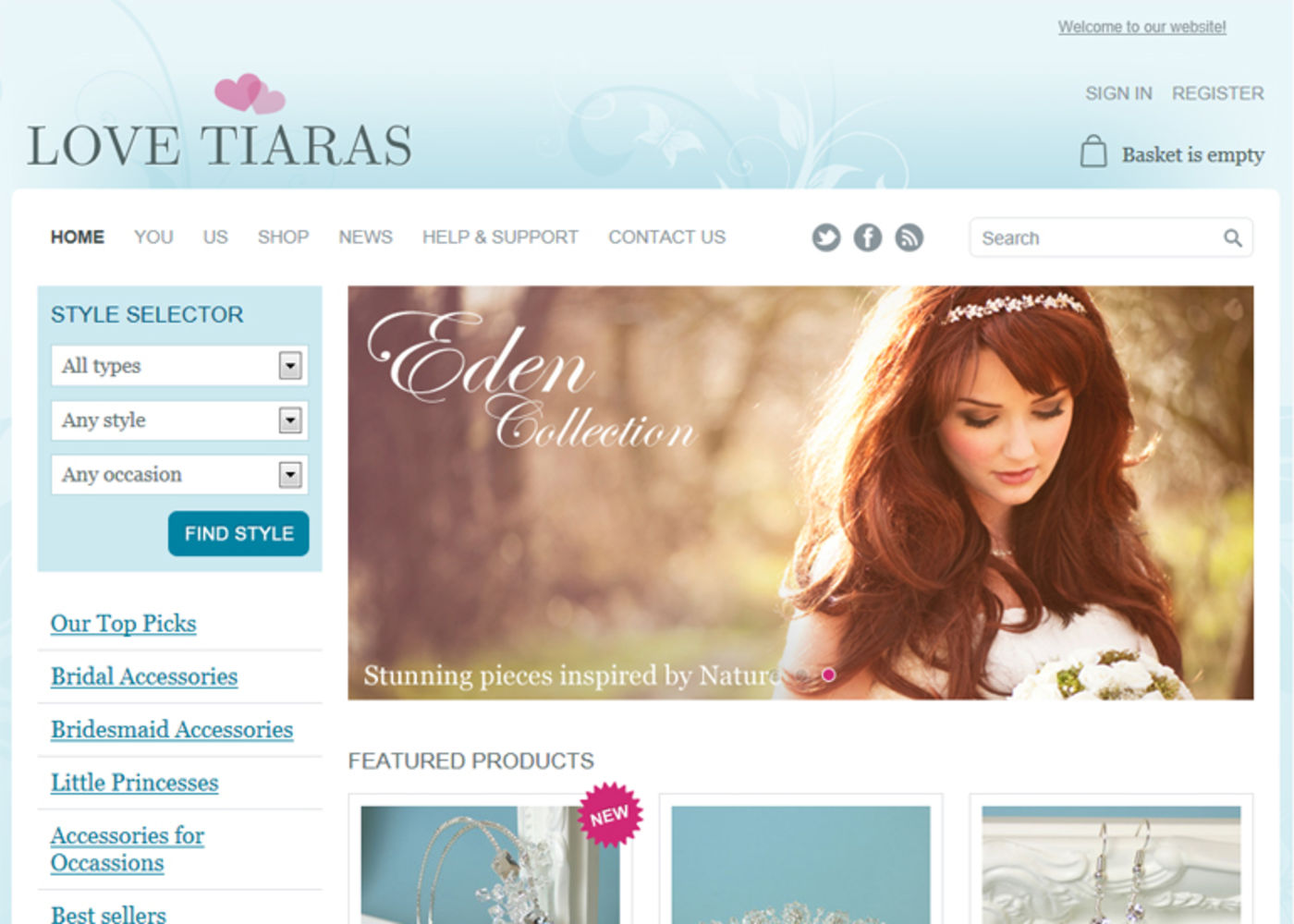 Love Tiaras Homepage header
