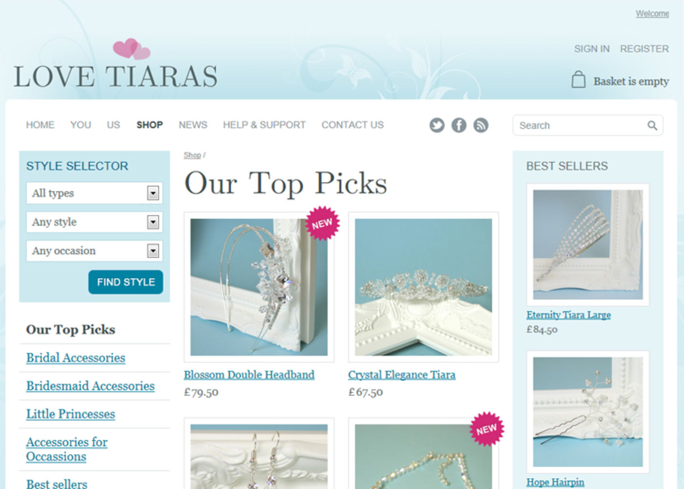 Love Tiaras Products