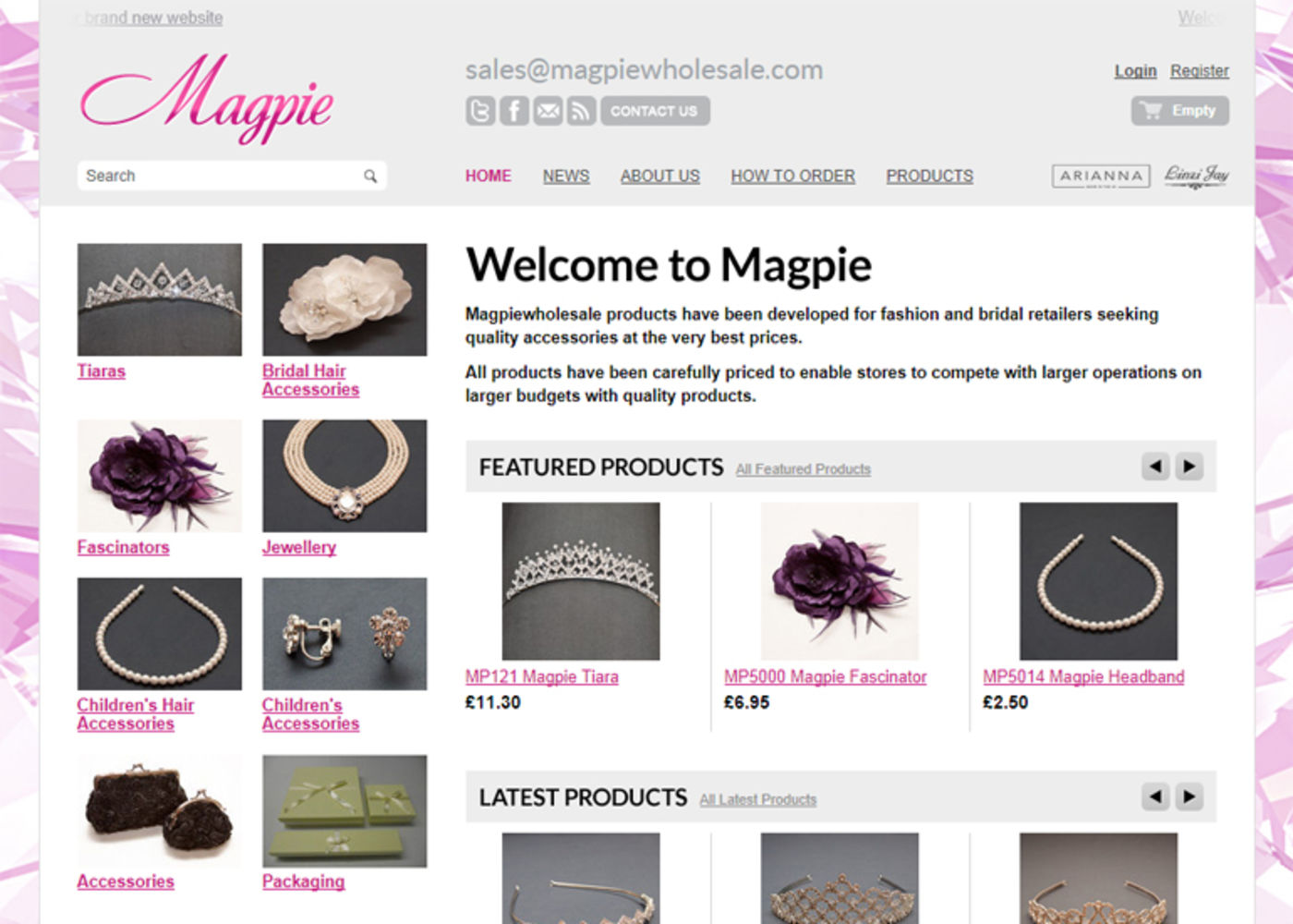 Magpie Homepage header