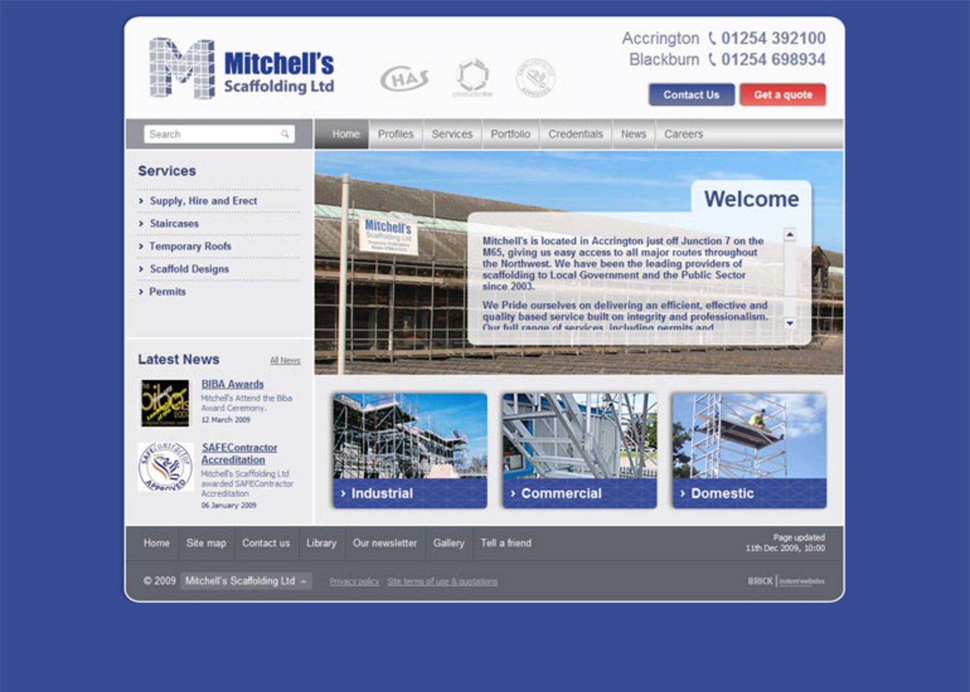 Mitchells Scaffolding Limited Home