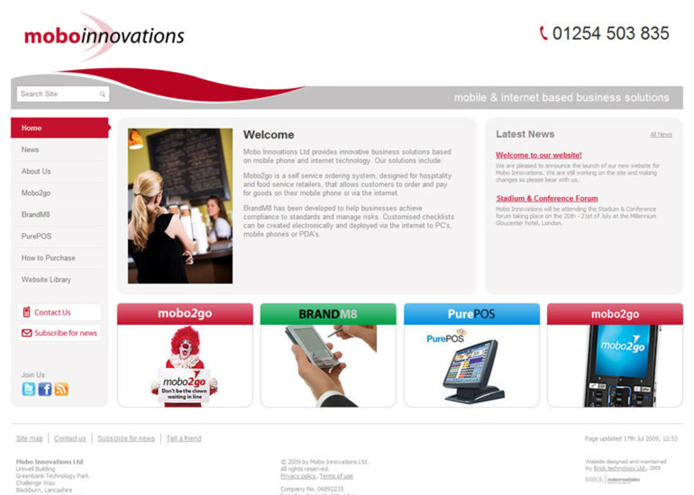 Mobo Innovations Homepage header