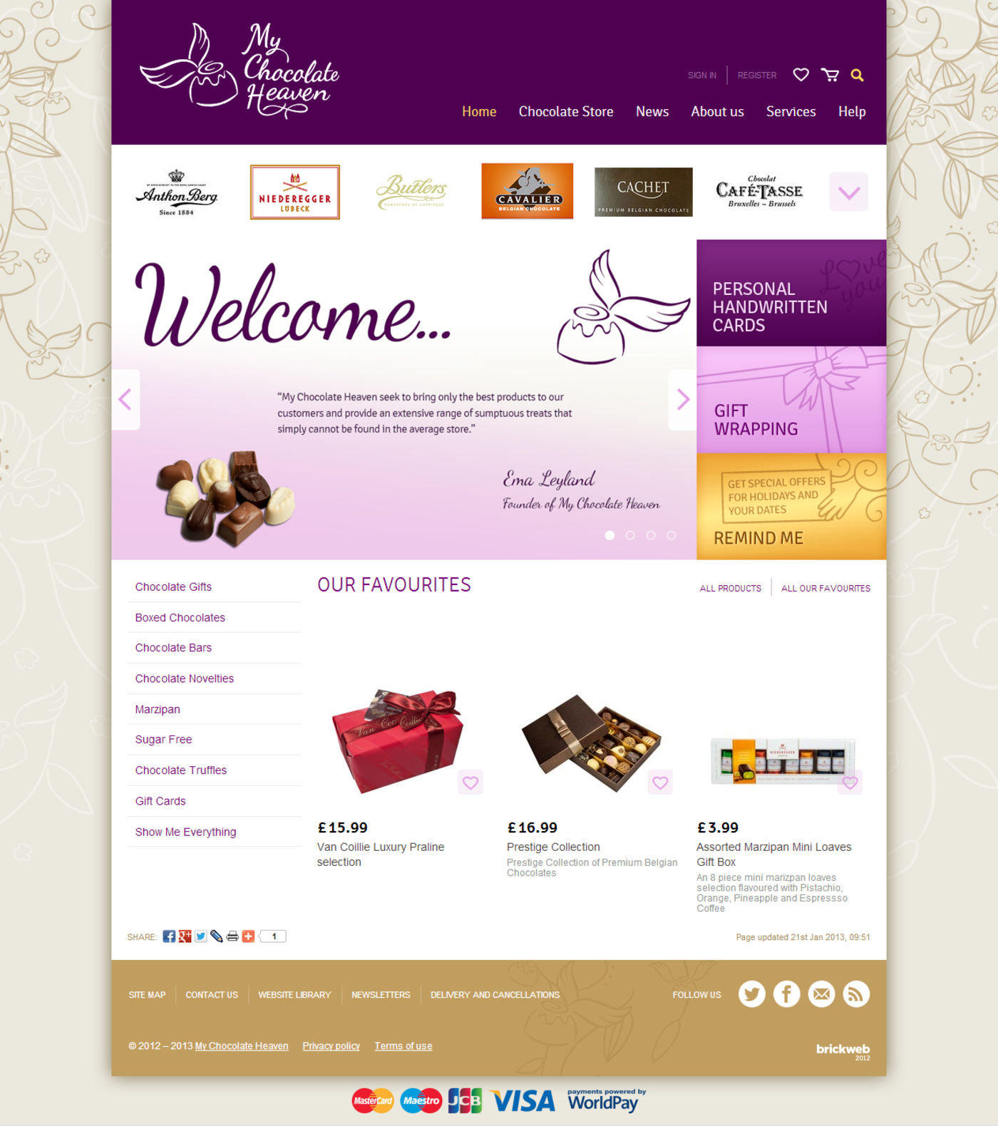 My Chocolate Heaven Homepage