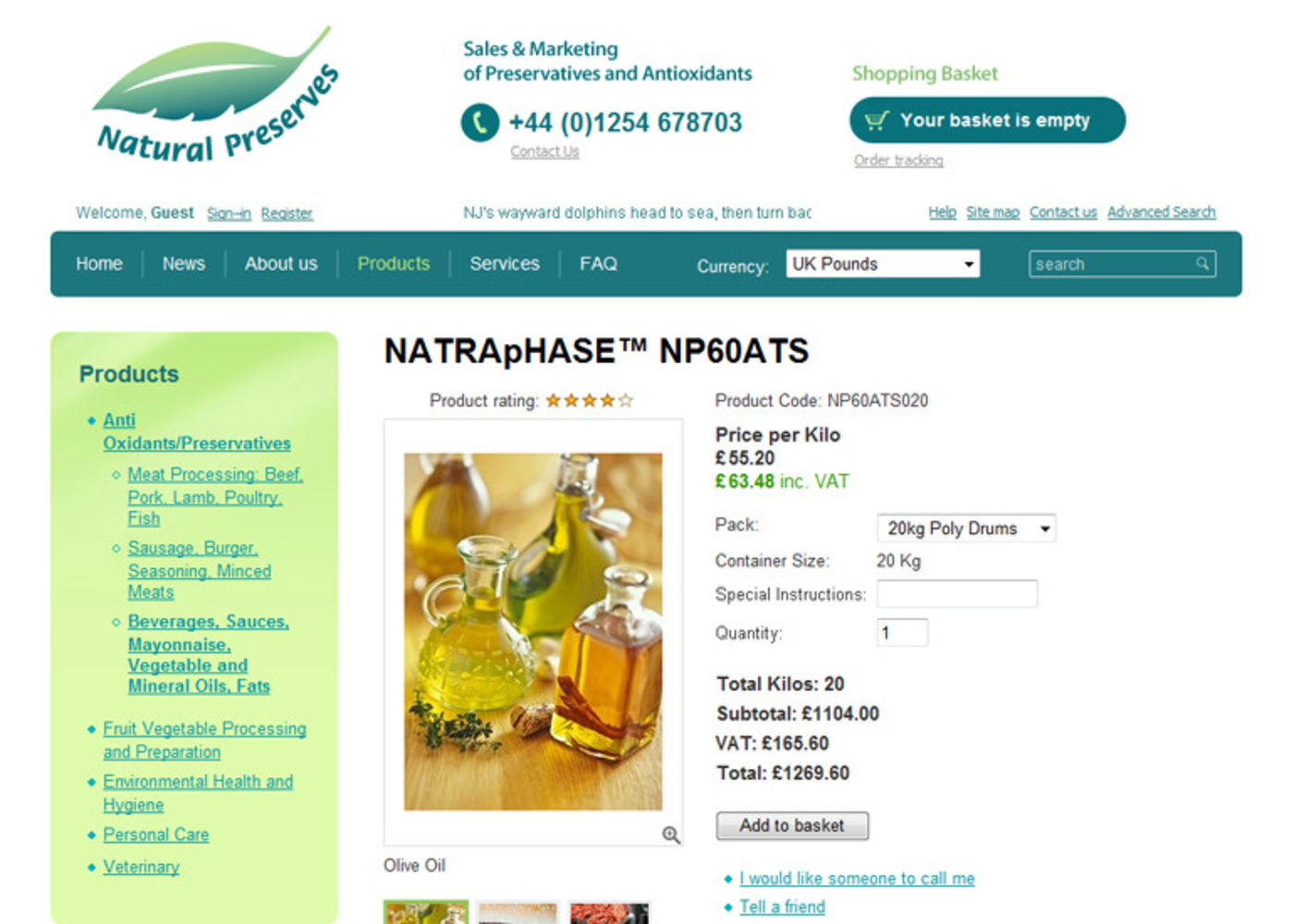 Natural Preserves Limited Product