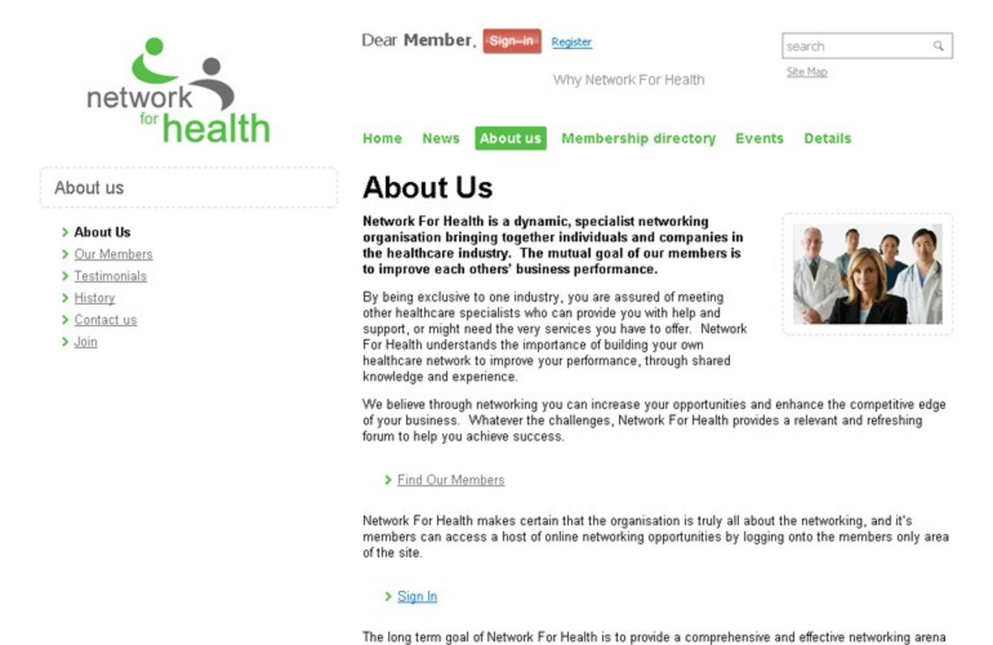 Network For Health About Us