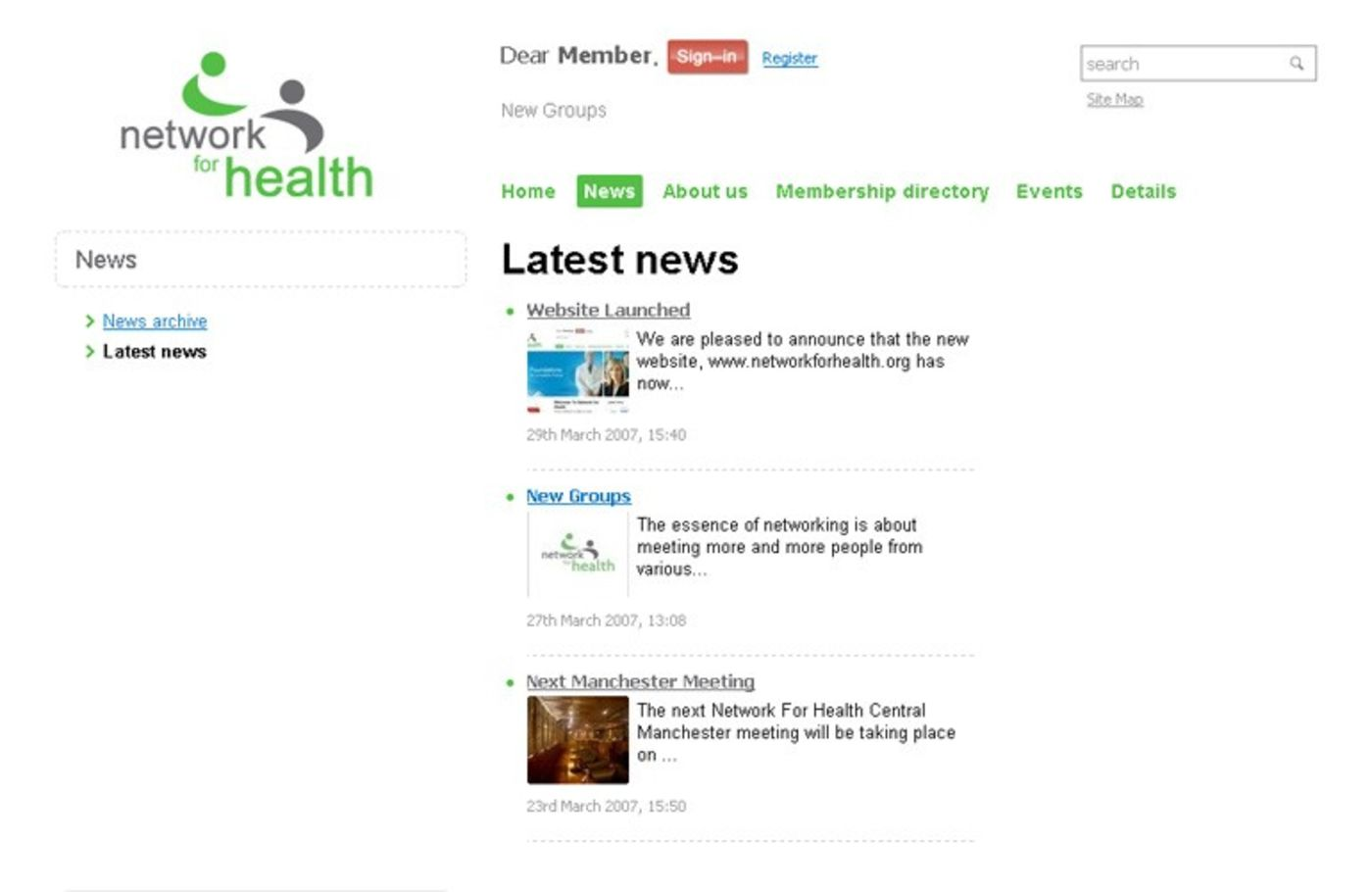 Network For Health Latest news