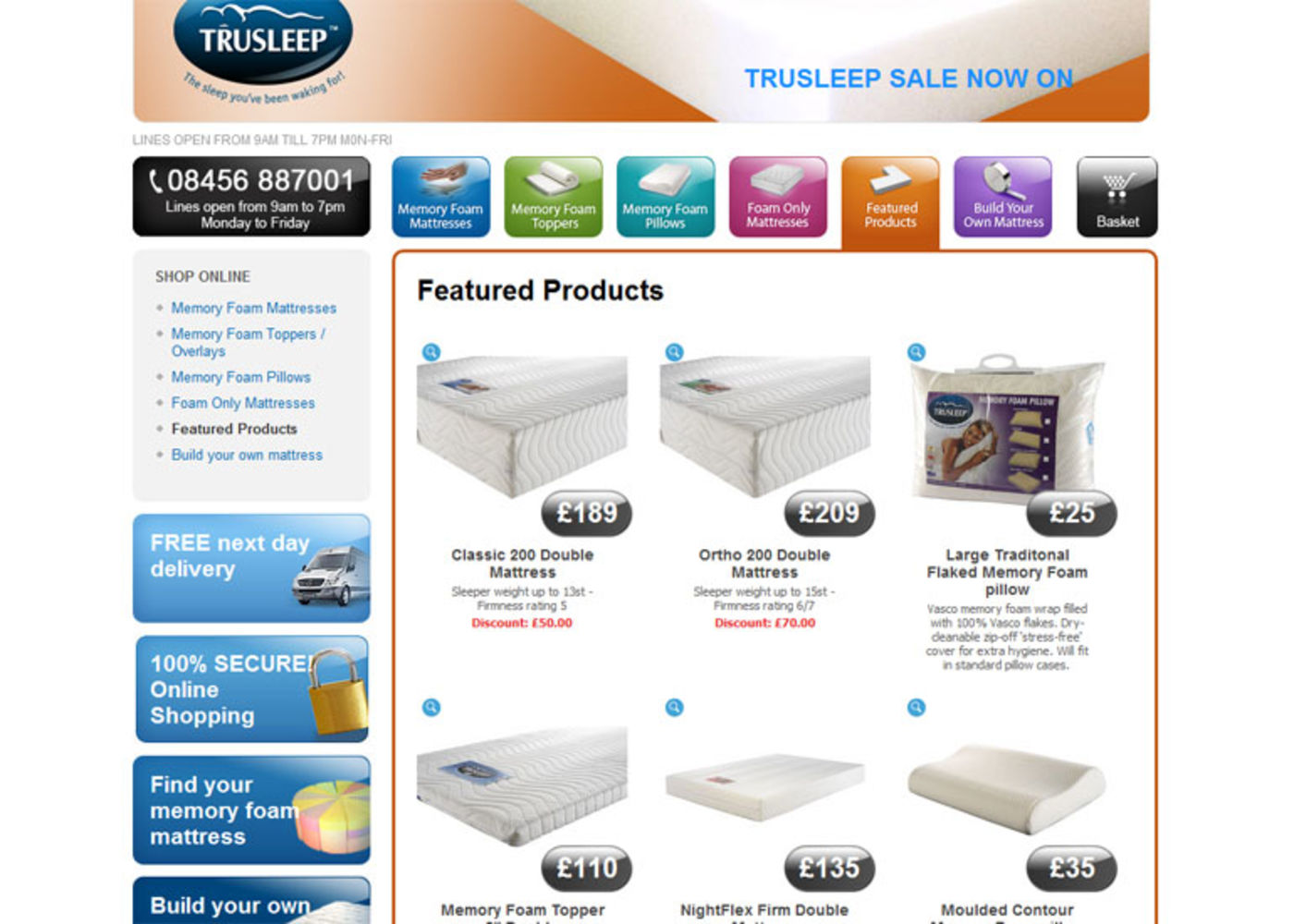TruSleep Featured products - TruSleep