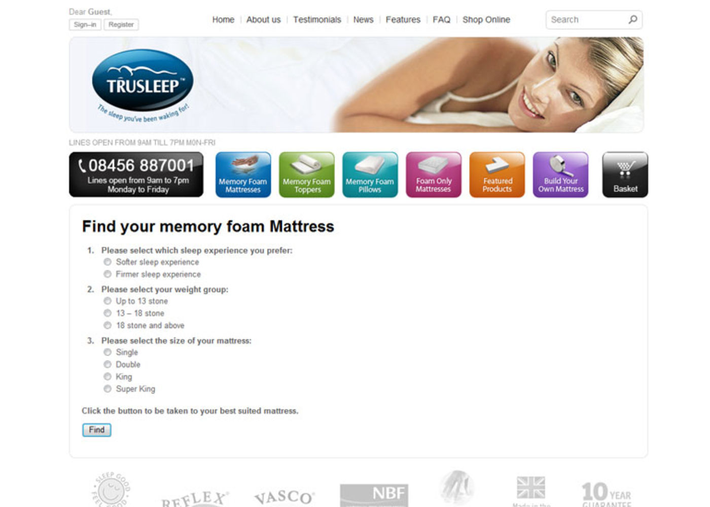 TruSleep Find your memory foam Mattress - TruSleep