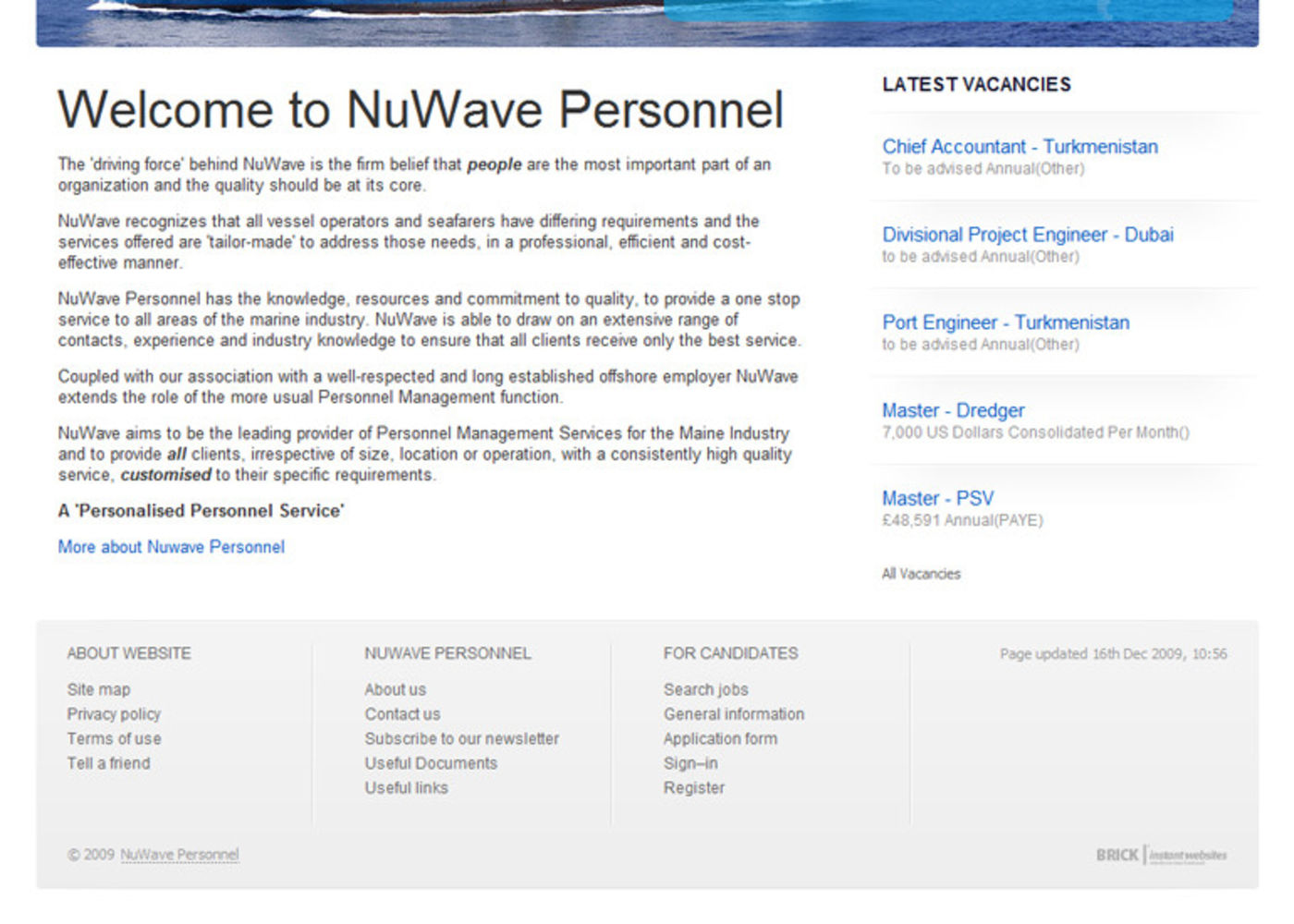 NuWave Personnel Homepage footer