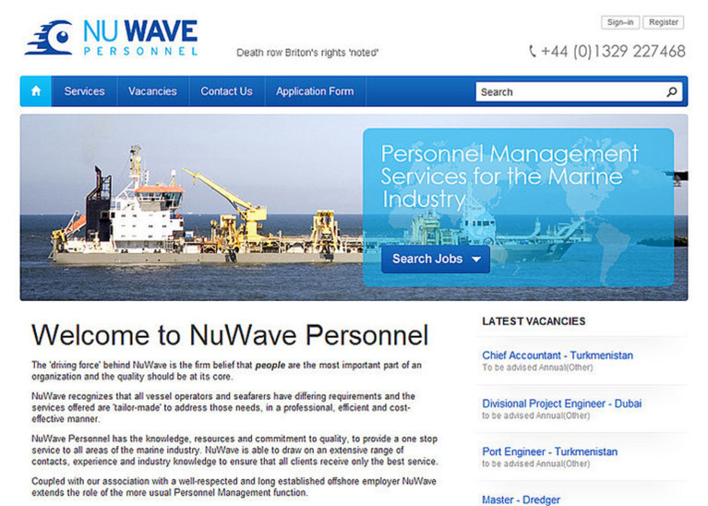 NuWave Personnel Homepage header