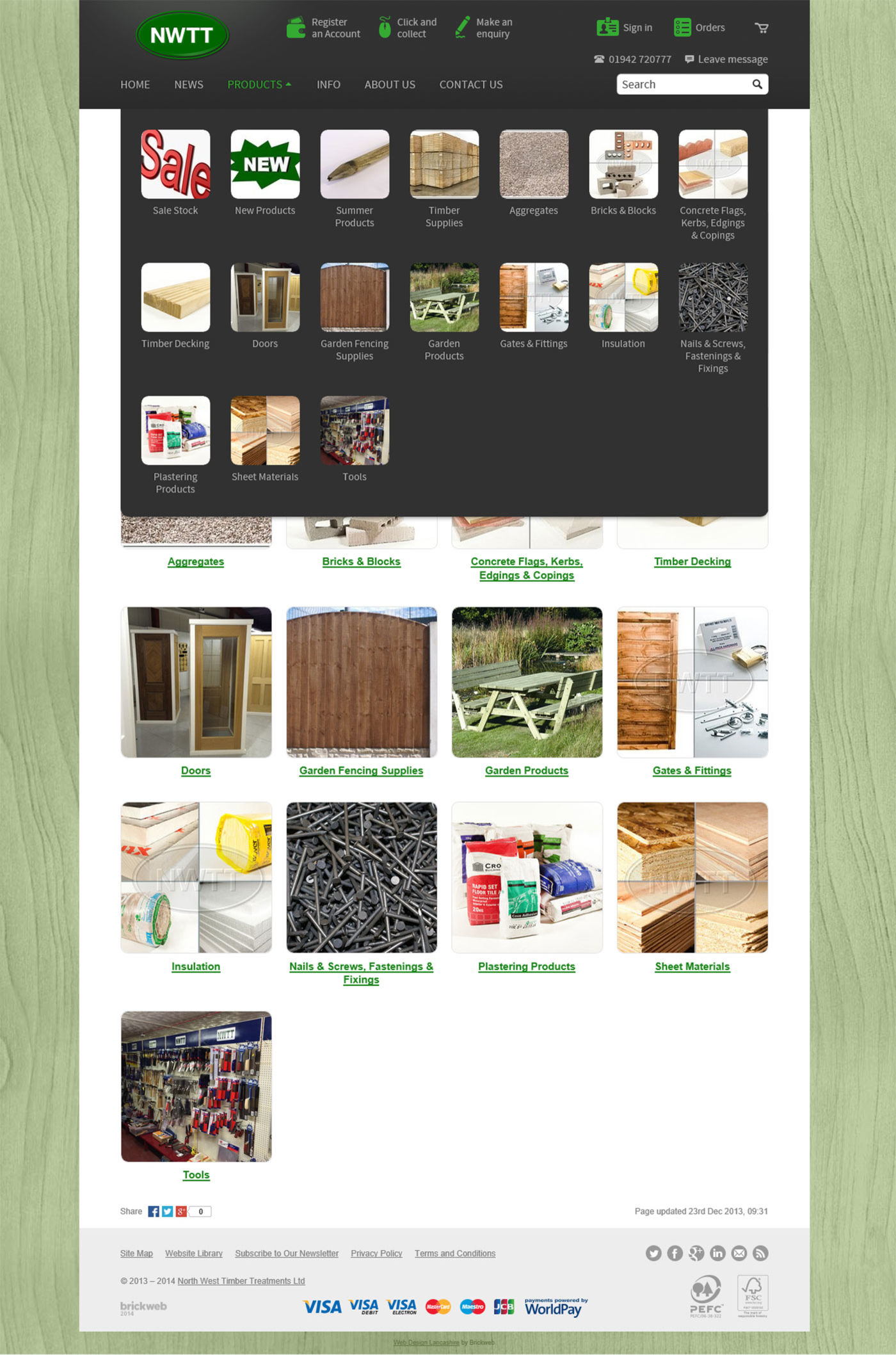 NWTT 2014 Products page