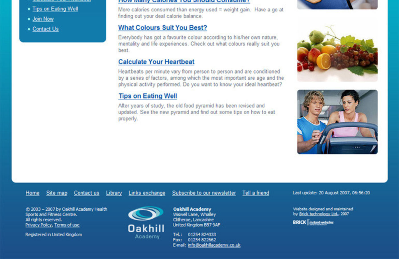 Oakhill Academy Page footer