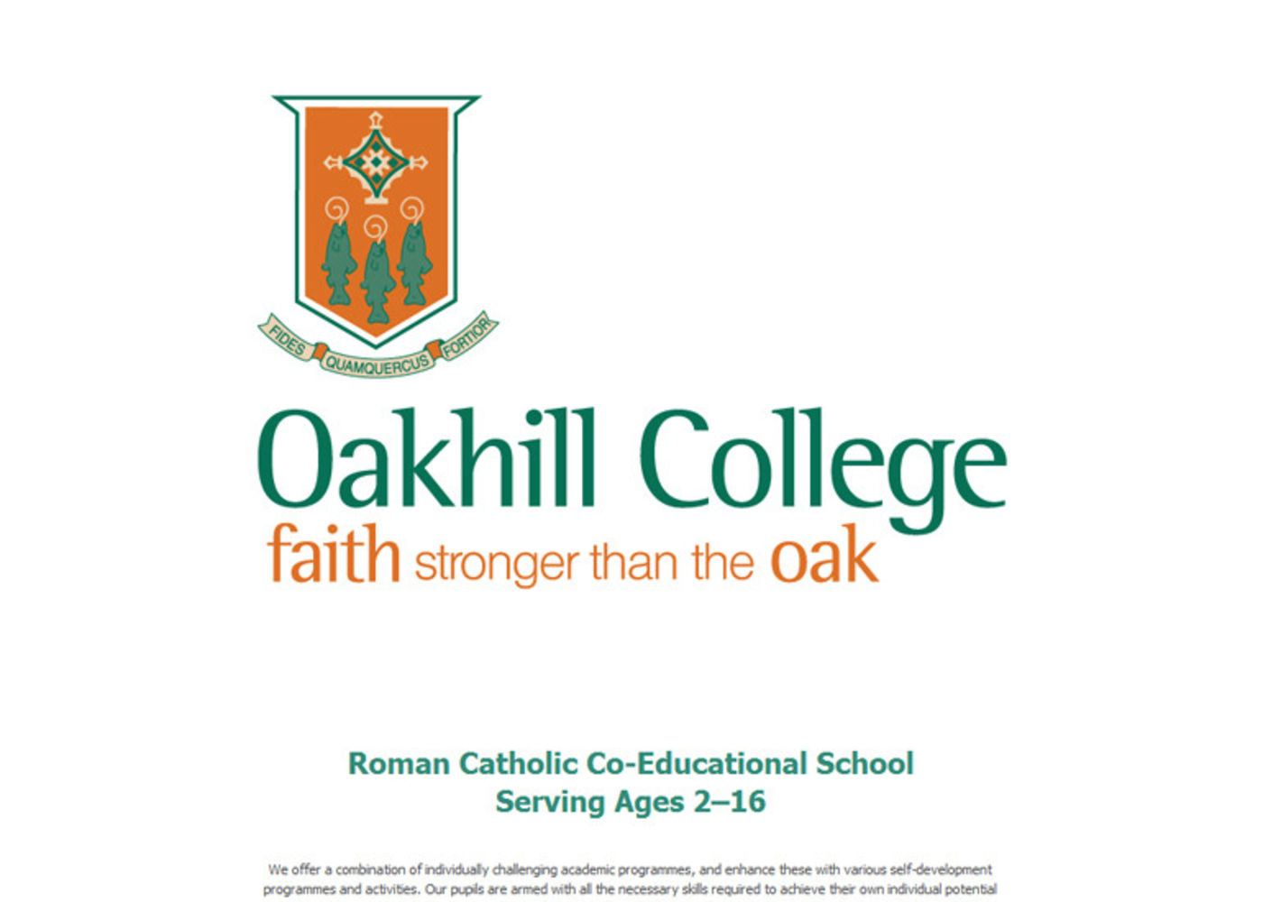 Oakhill College Welcome