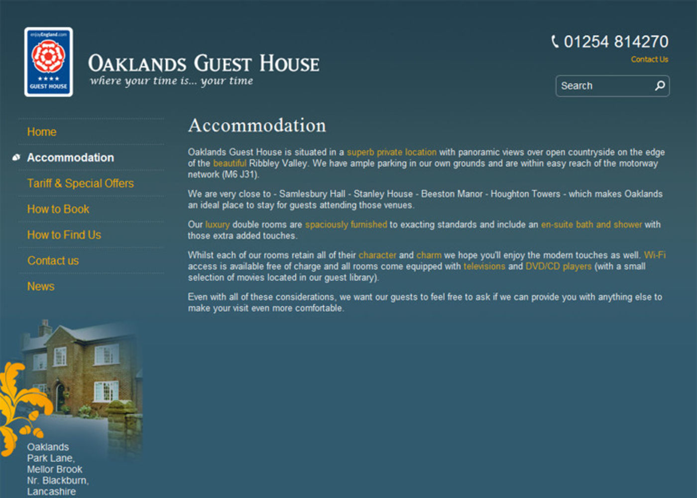 Oaklands Guest House Regular page