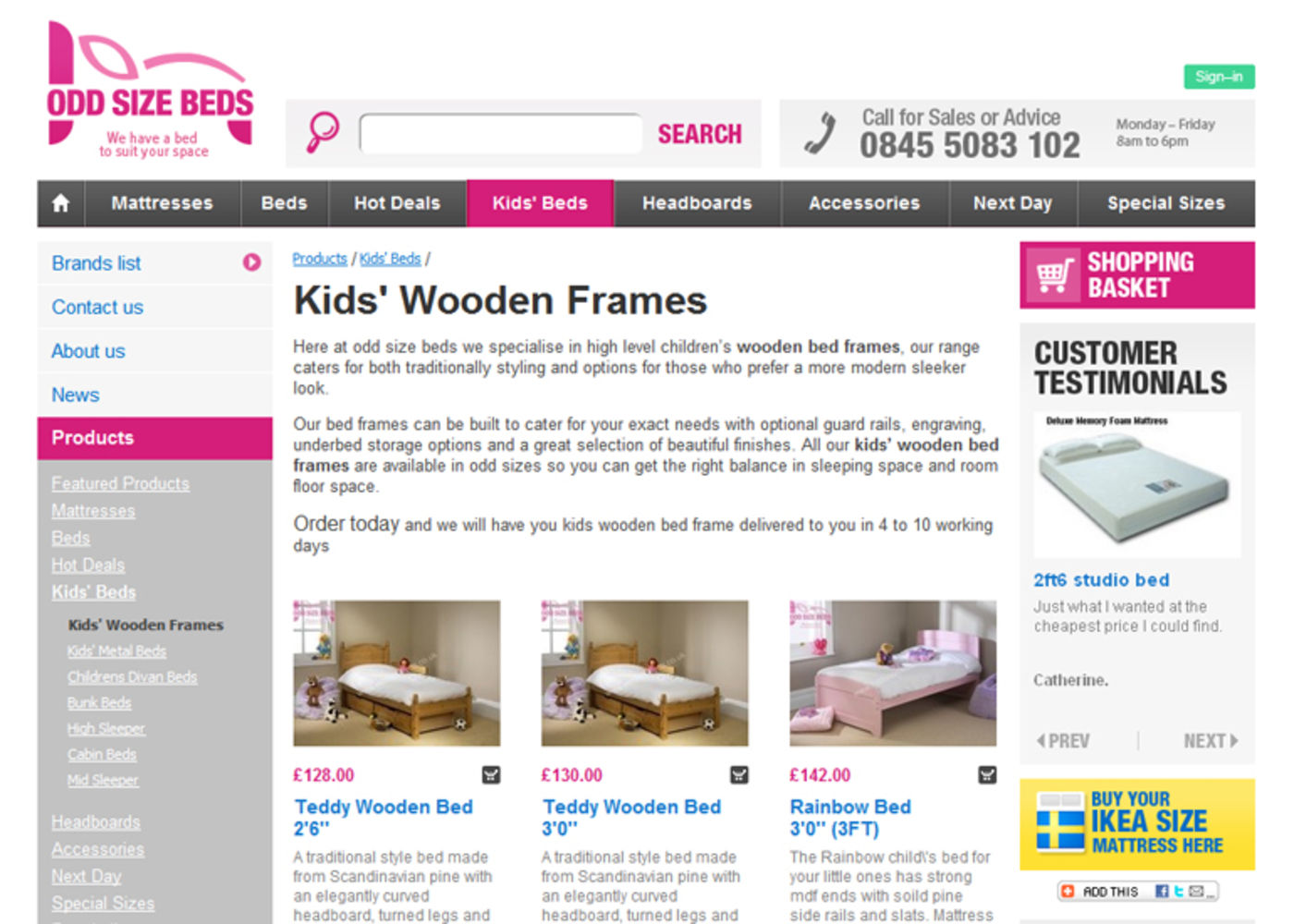 Odd Size Beds Products