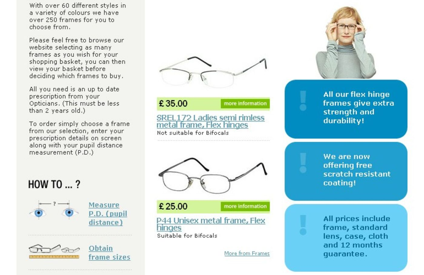 One Stop Glasses Homepage centre