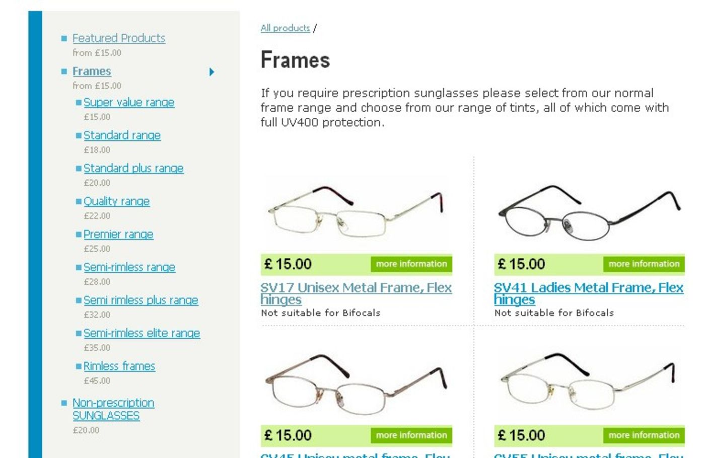 One Stop Glasses Products