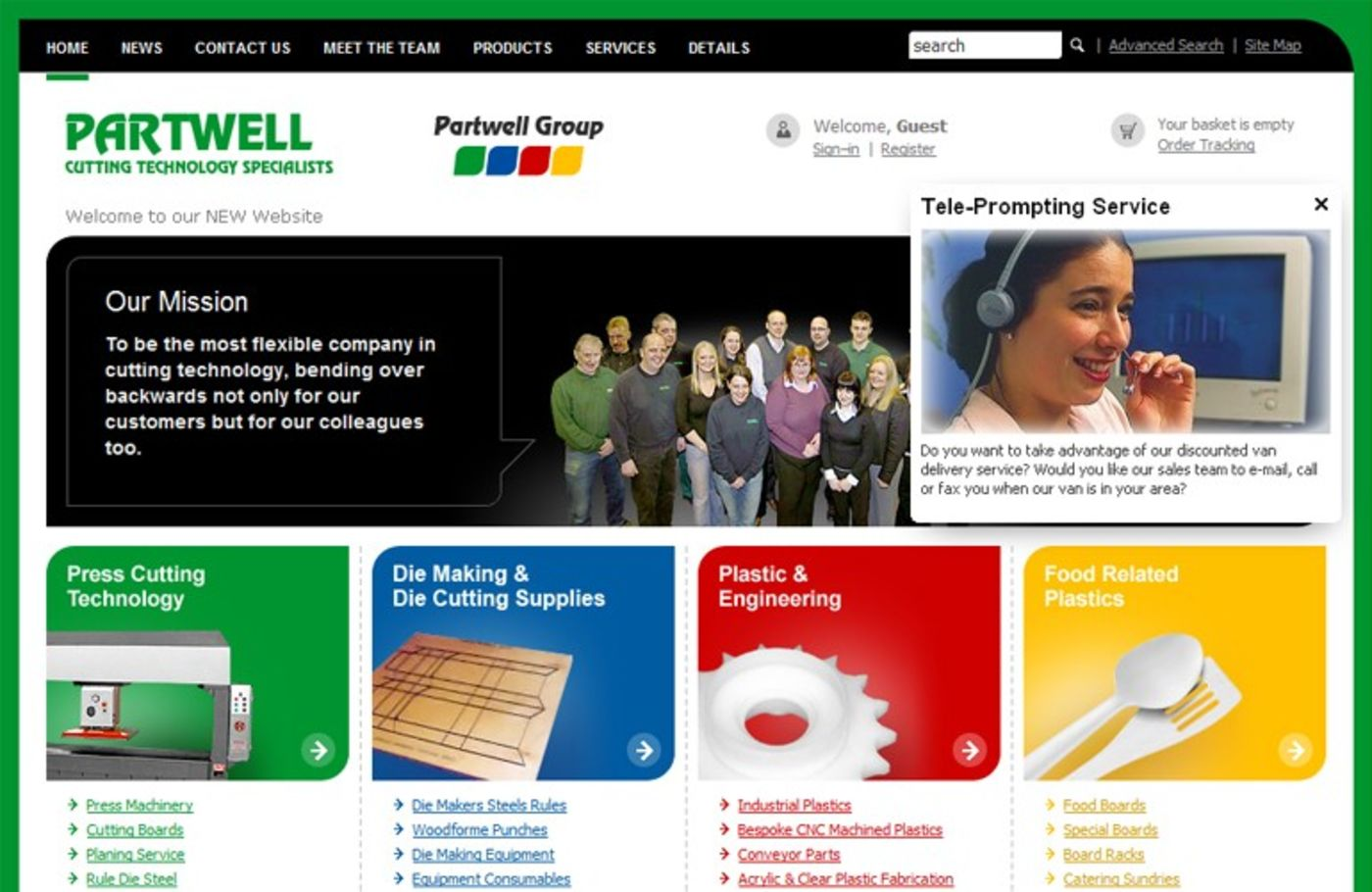 Partwell Group 2006 Homepage