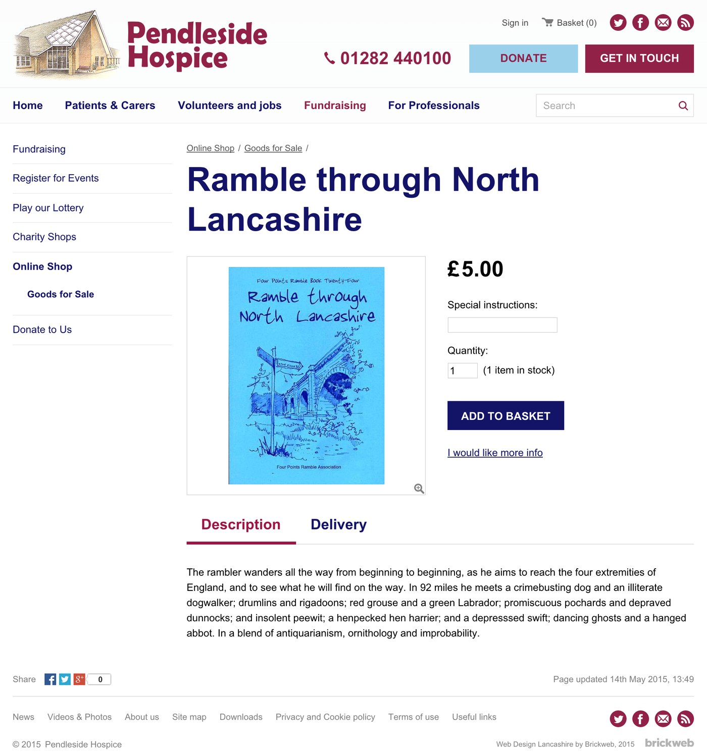 Pendleside Hospice Product