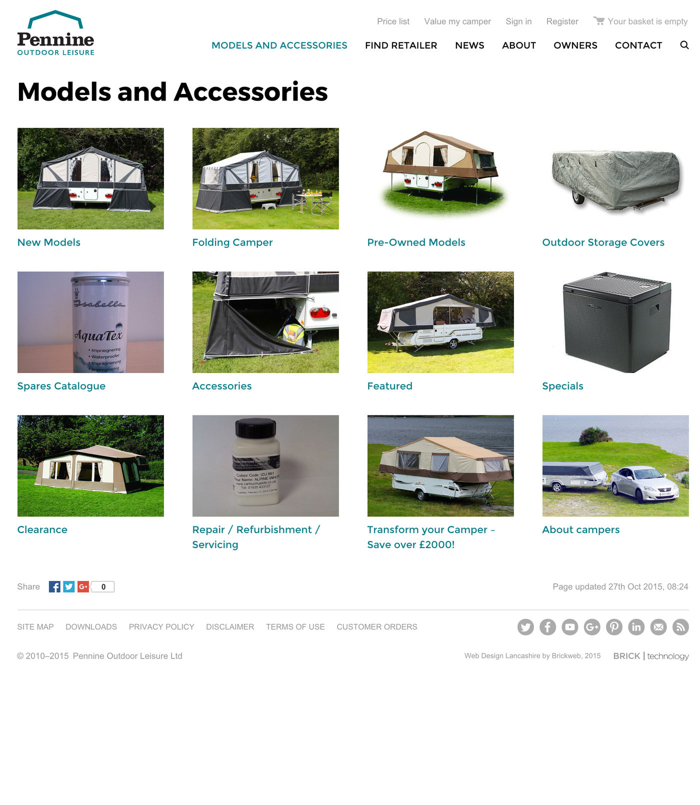 Pennine Outdoor Leisure Ltd Models and Accessories
