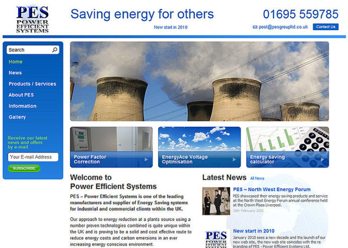 Power Efficient Systems Homepage header