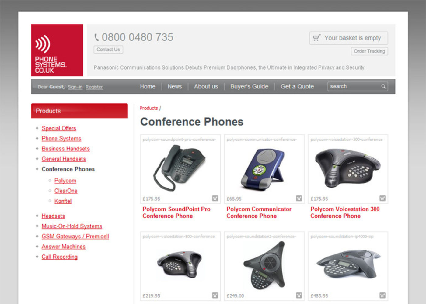 Phonesystems.co.uk Products