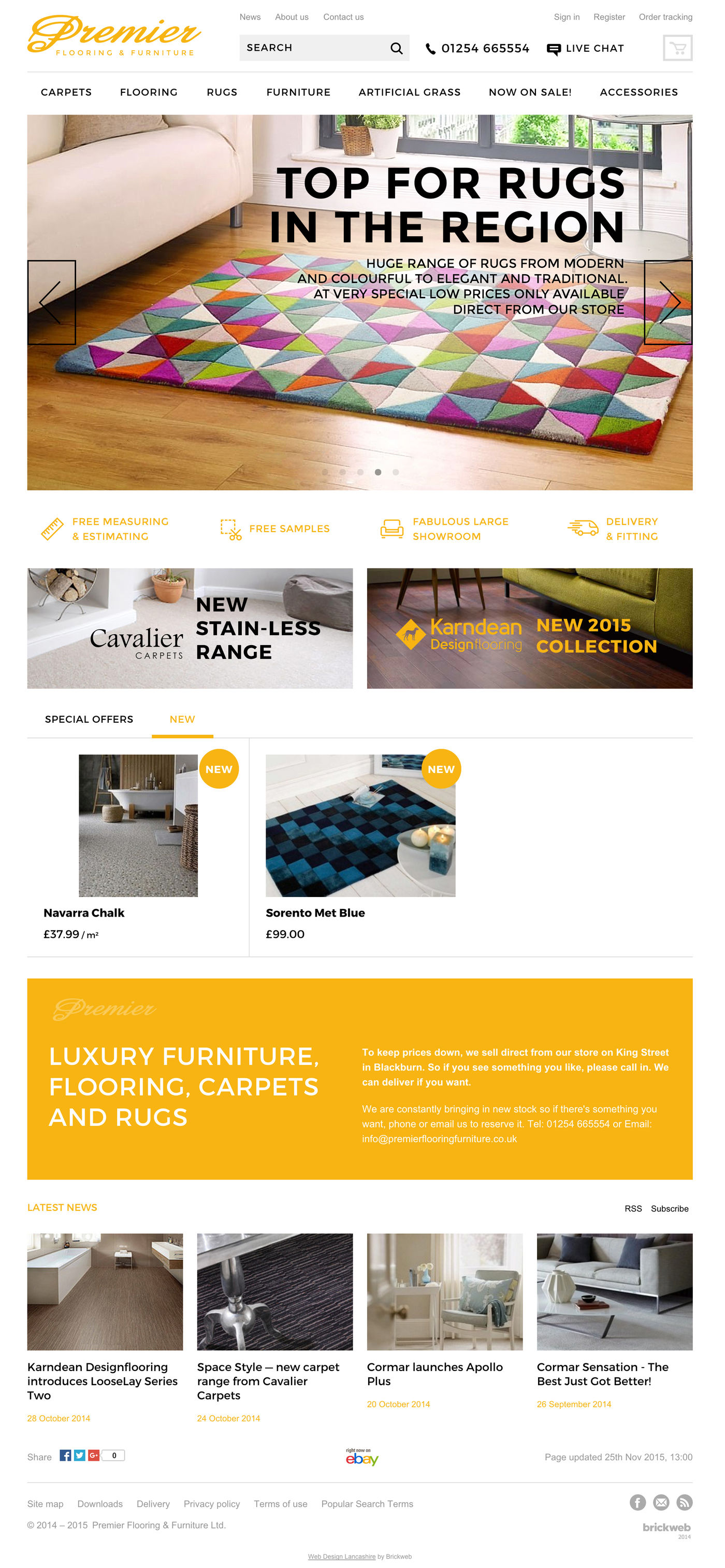 Premier Flooring & Furniture Ltd Homepage
