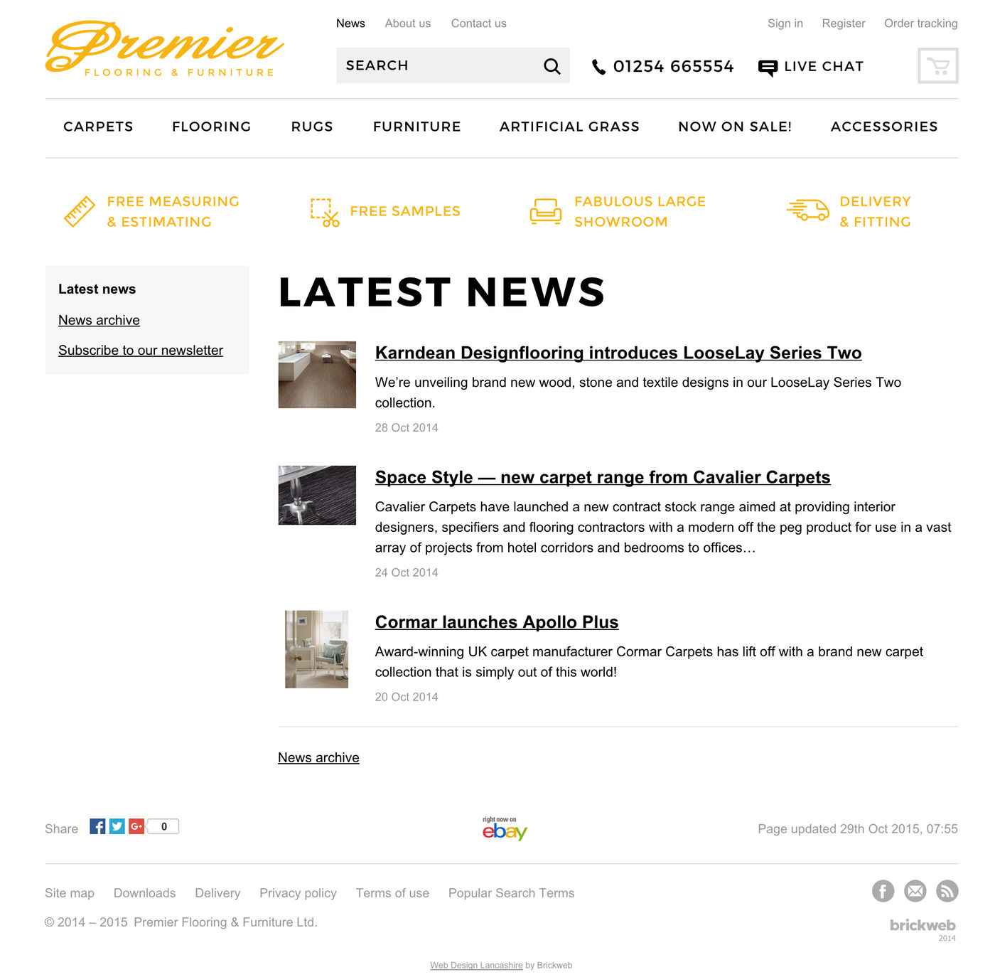 Premier Flooring & Furniture Ltd Latest news