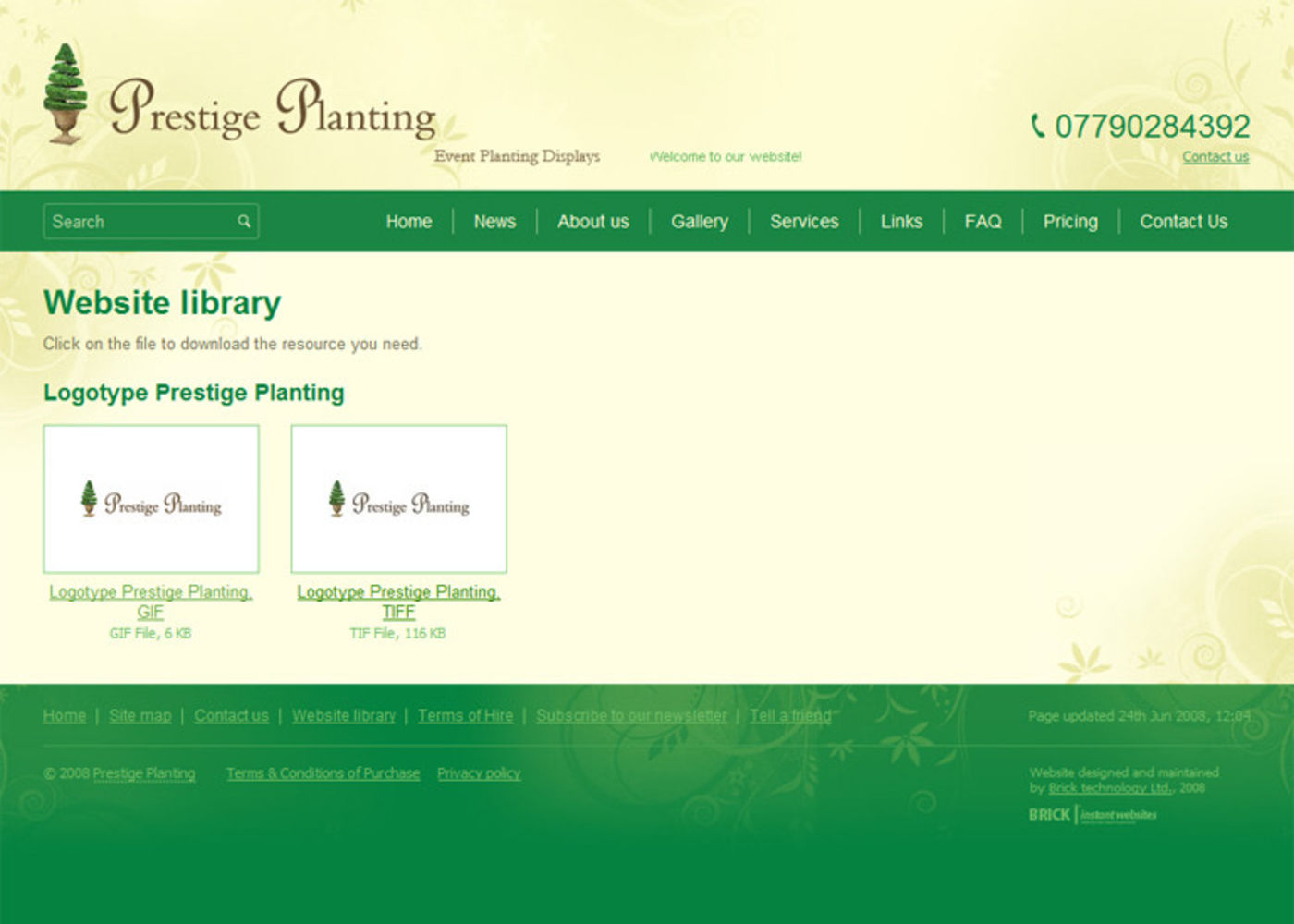 Prestige Planting Website library