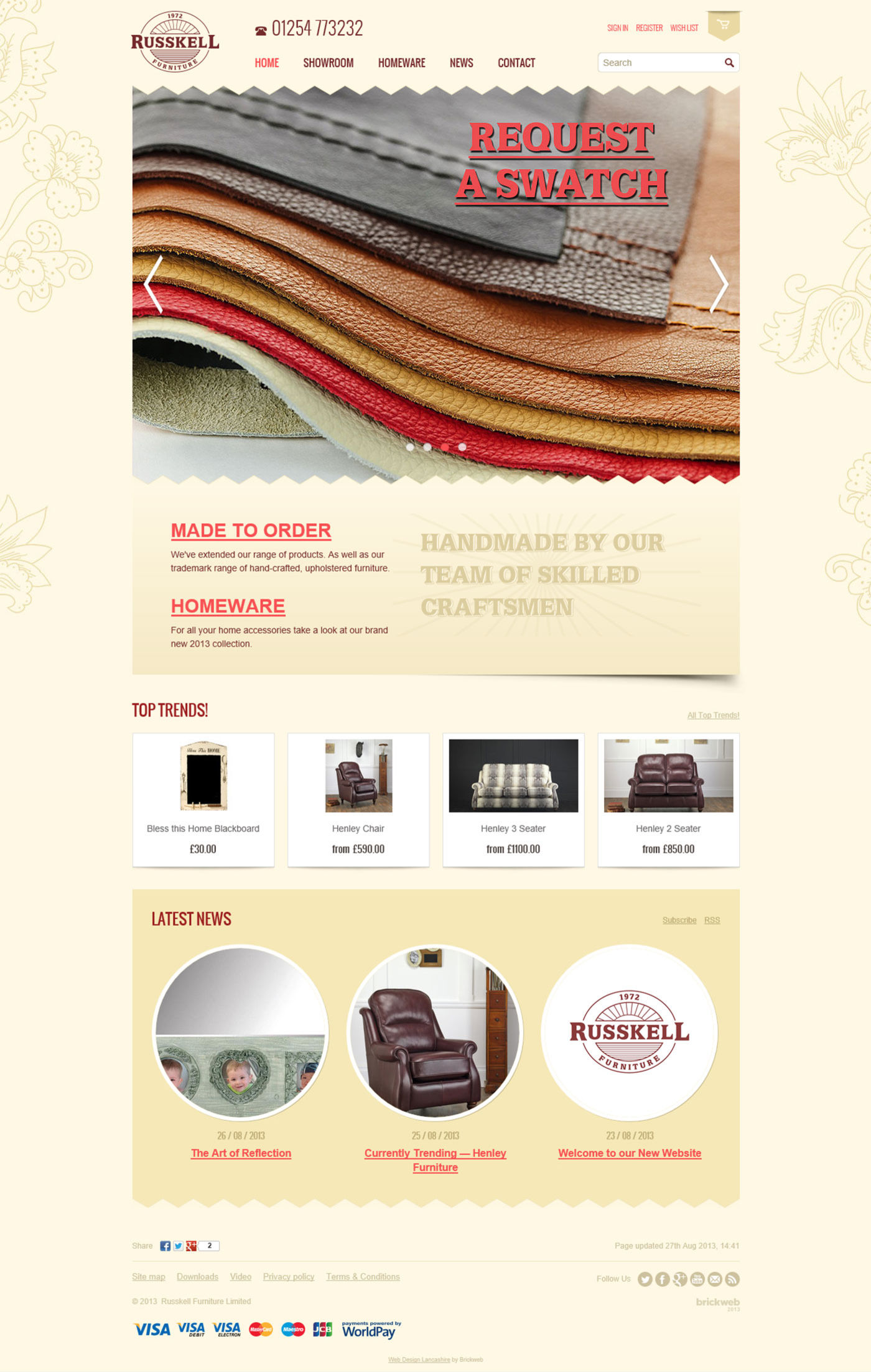 Russkell Furniture Home page