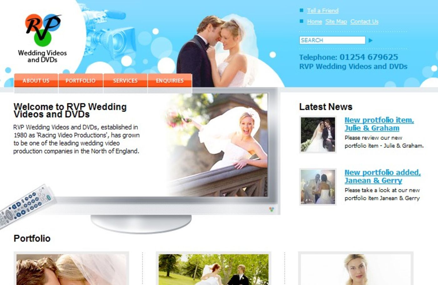 RVP Wedding Videos and DVDs Homepage header