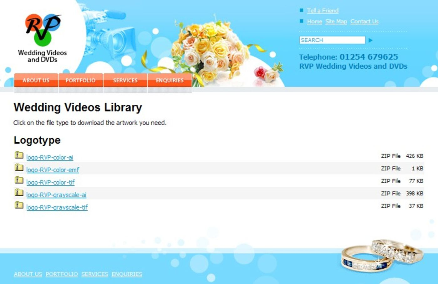 RVP Wedding Videos and DVDs Website library
