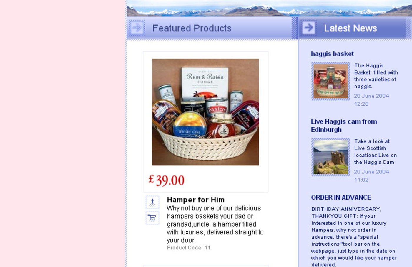 Scotland Hampers Homepage continue