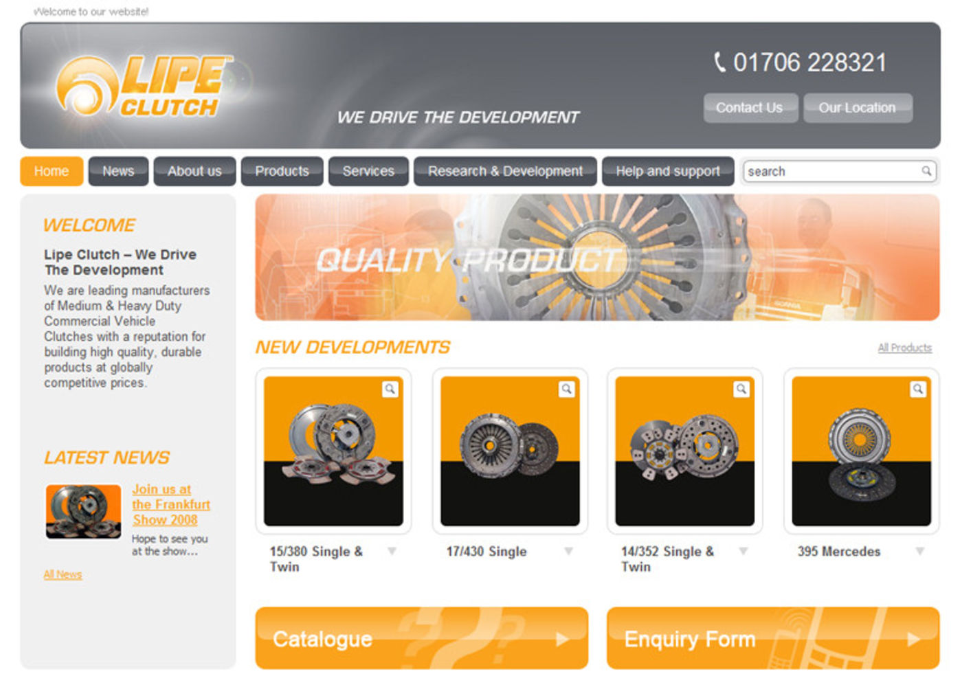 Setco Lipe Clutch Homepage header
