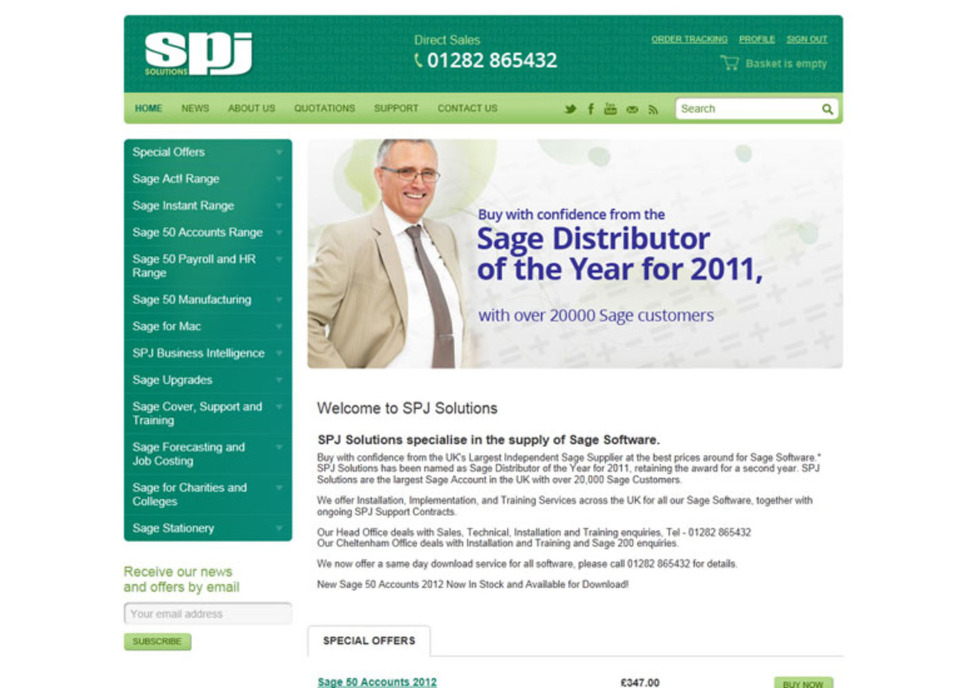 SPJ Solutions Homepage header