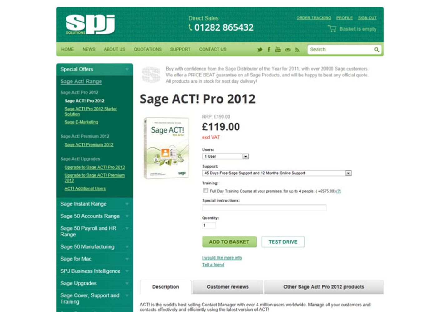 SPJ Solutions Product page