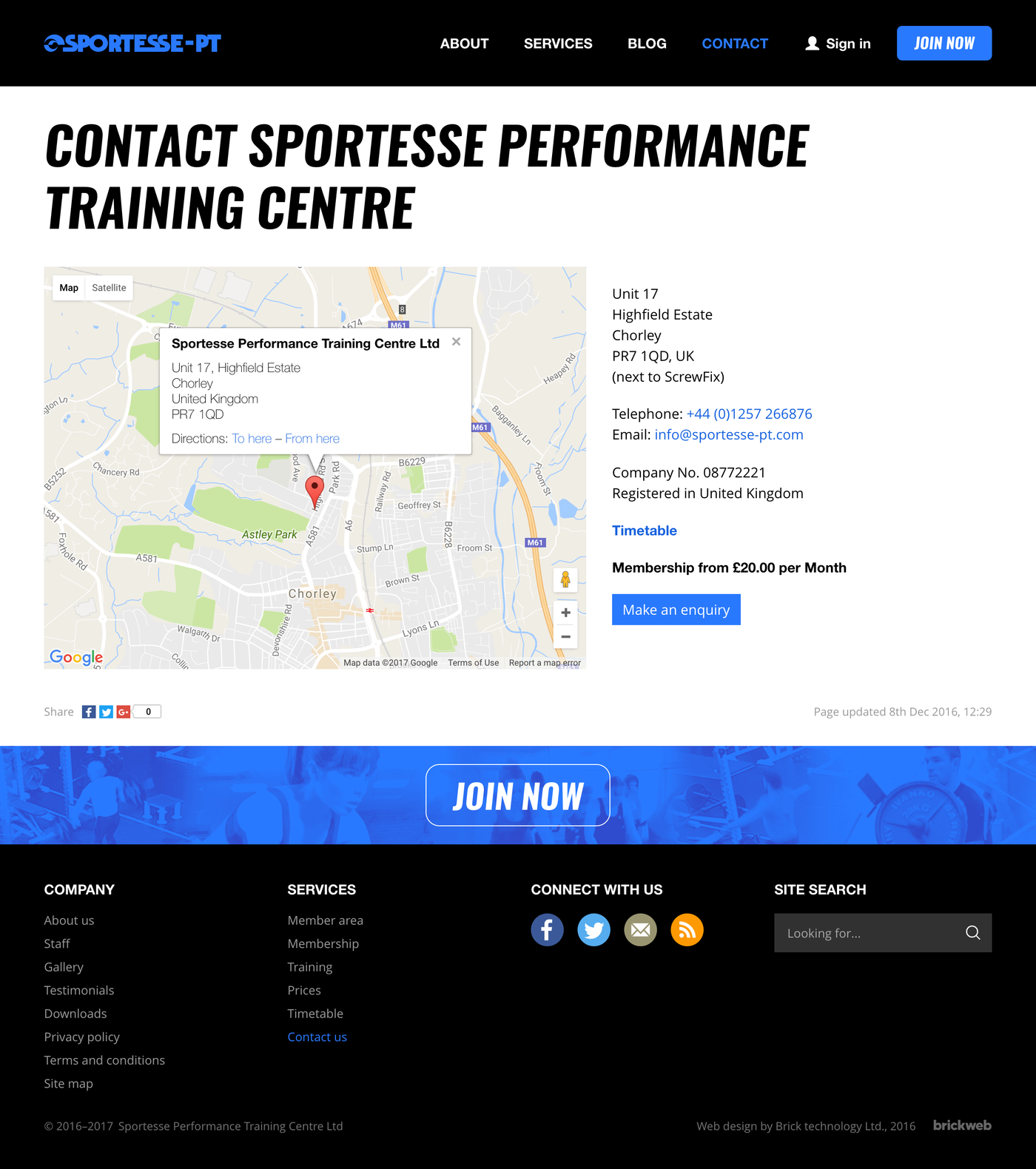 Sportesse Performance Training Center Contact