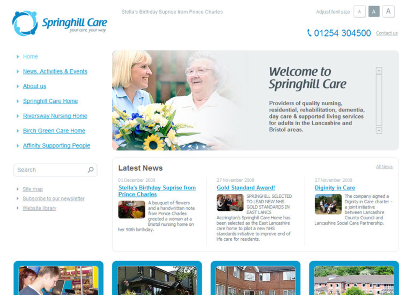 Springhill Care Group Limited Homepage header