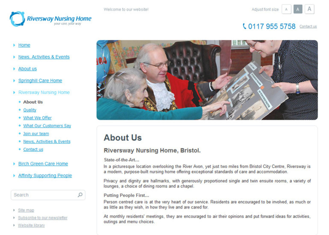 Springhill Care Group Limited Regular page