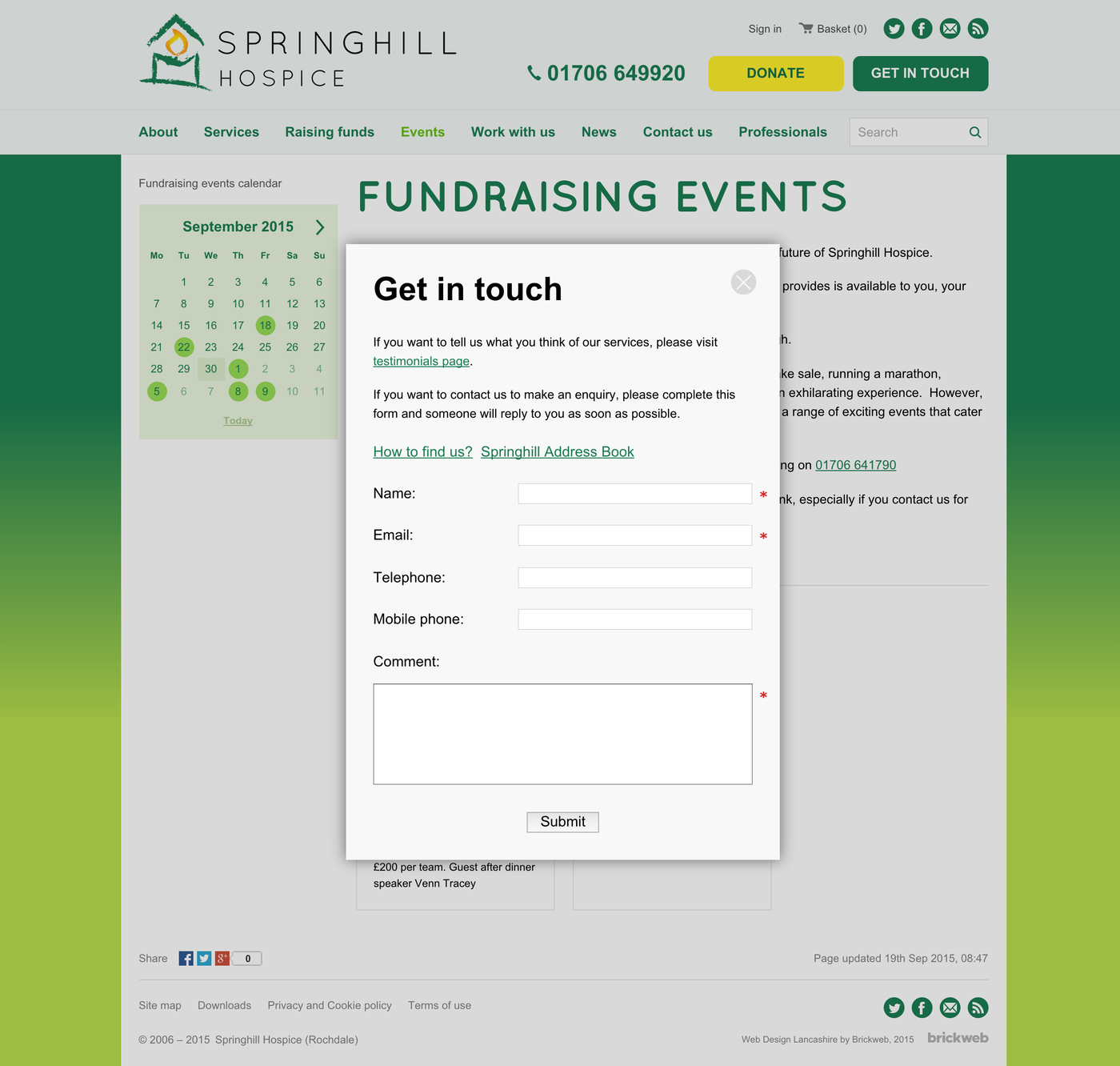Springhill Hospice Get in touch