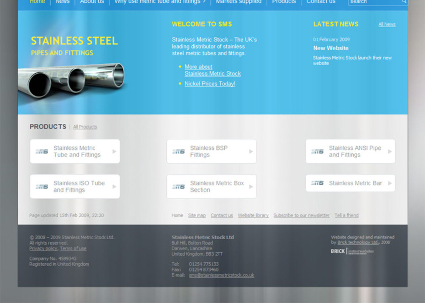 Stainless Metric Stock Ltd Homepage footer - SMS Ltd