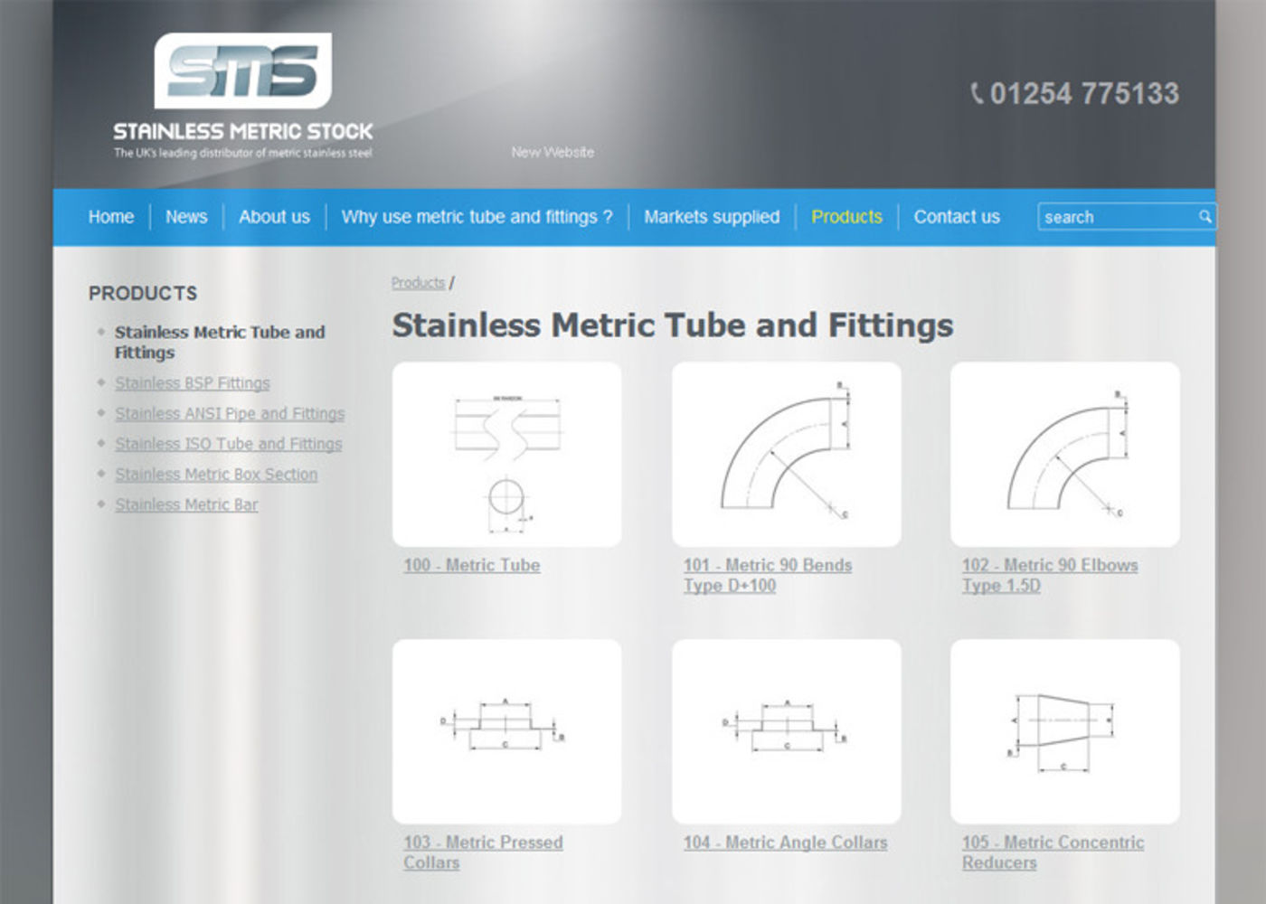 Stainless Metric Stock Ltd Products - SMS Ltd