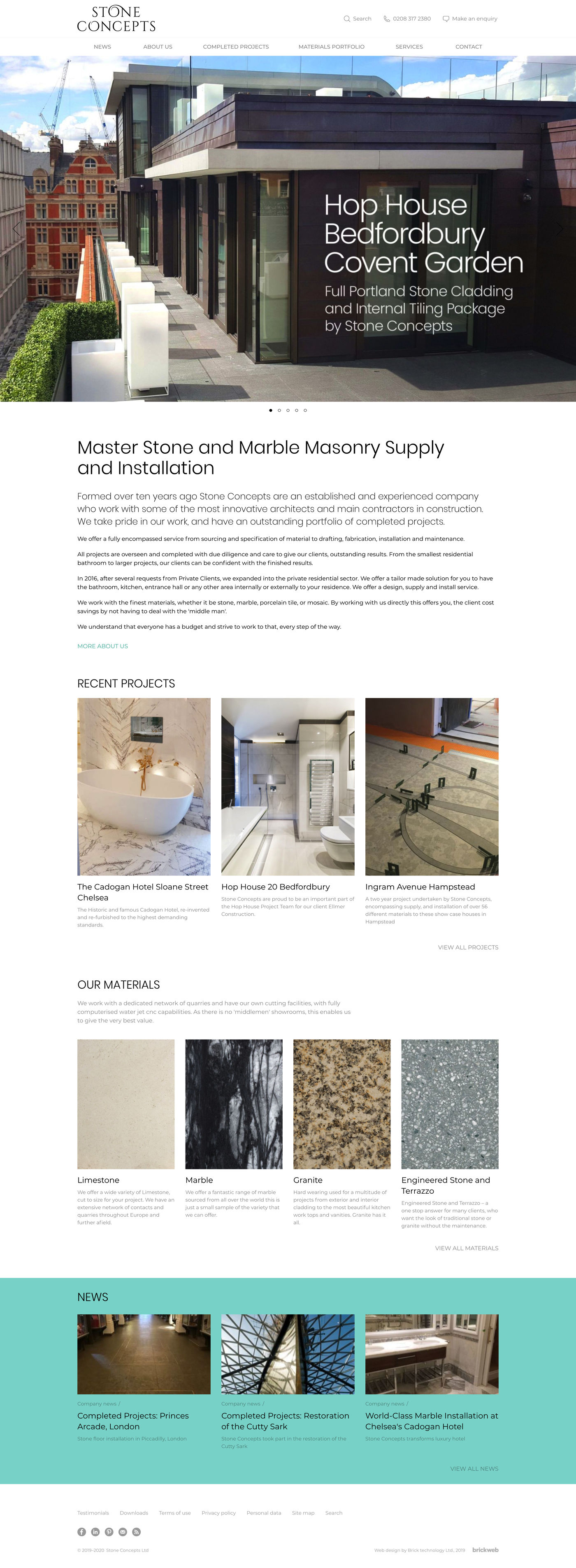Stone Concepts Home page