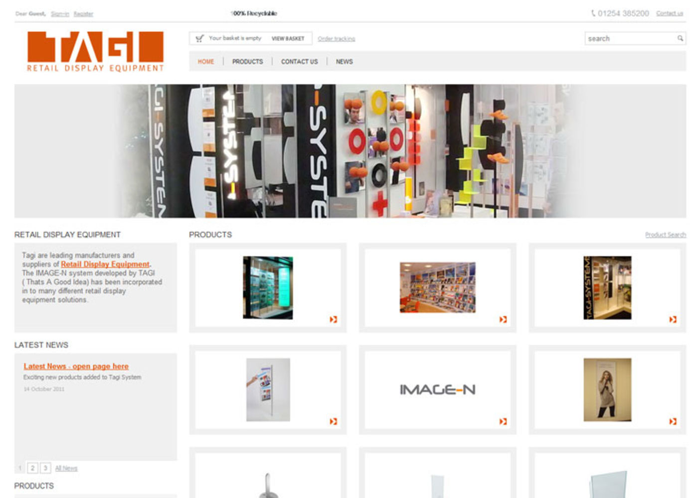 Tagi Systems Homepage header