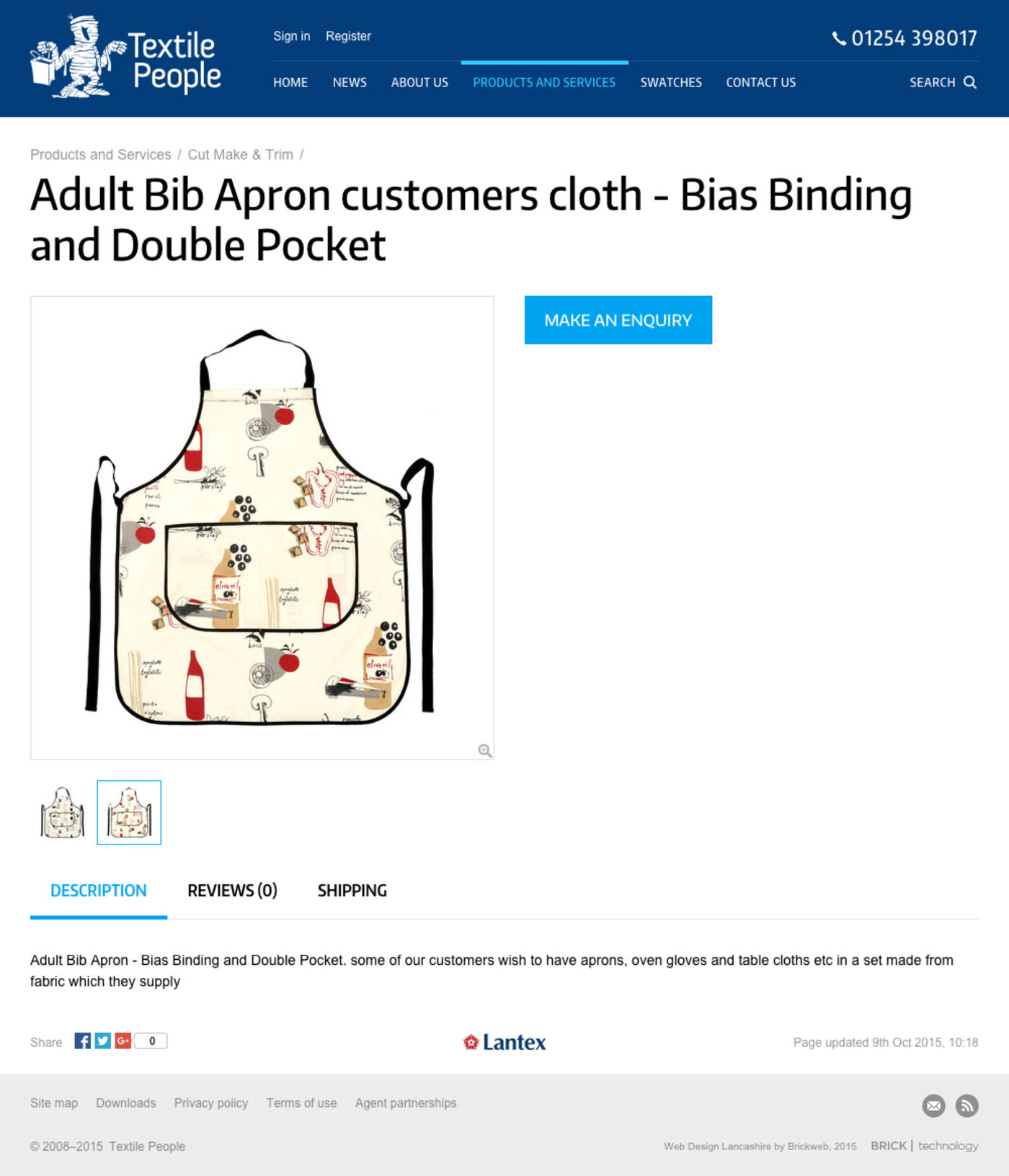 Textile People Product Apron