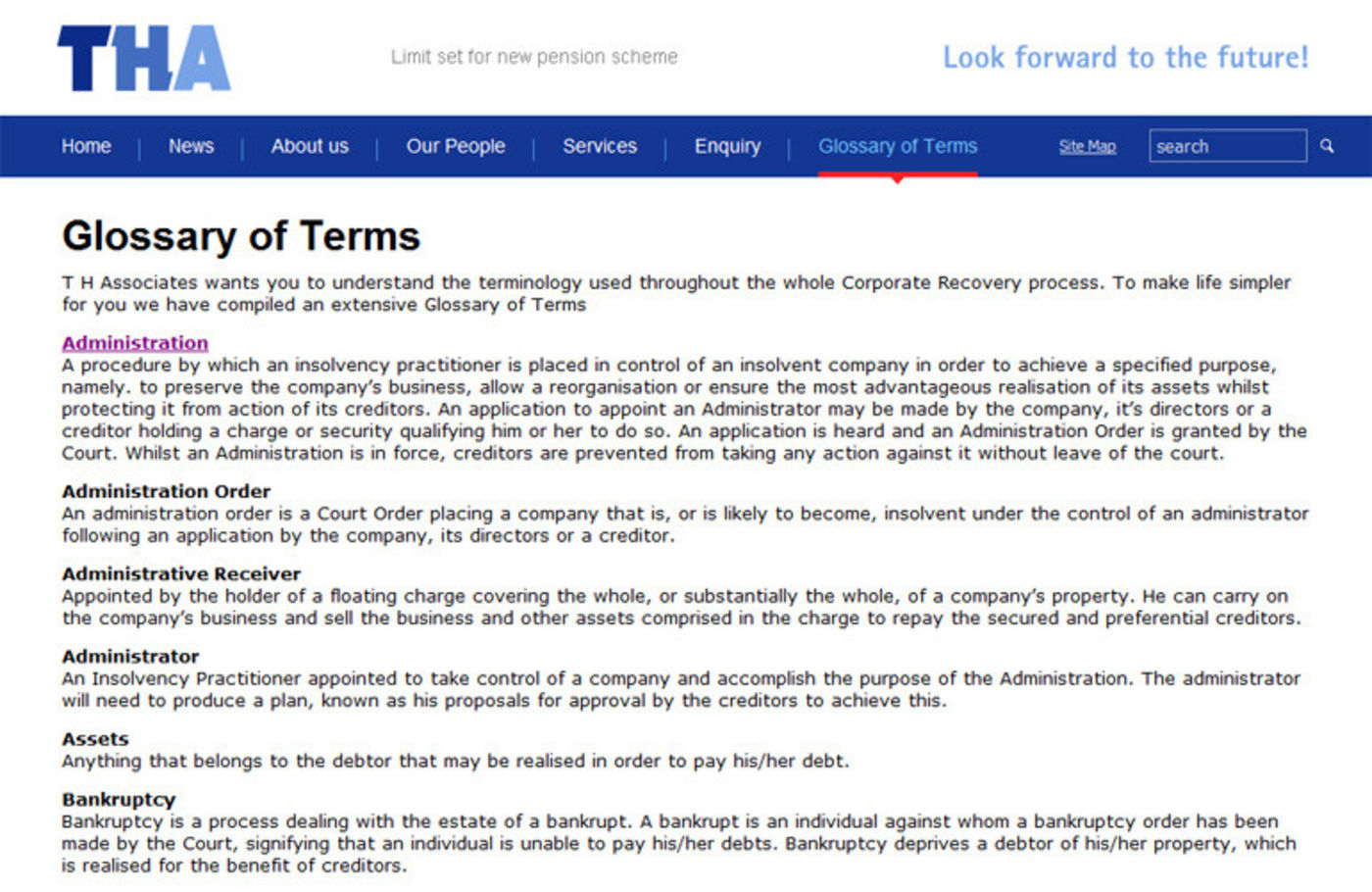 TH Associates Glossary of Terms