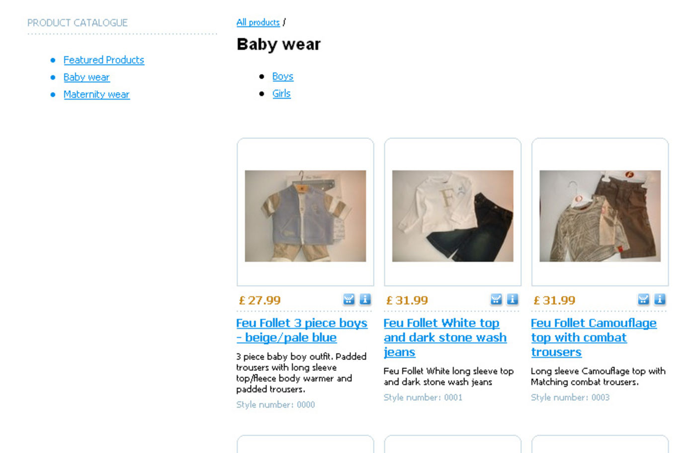 The Bump Maternity Clothing & Babywear Category of products