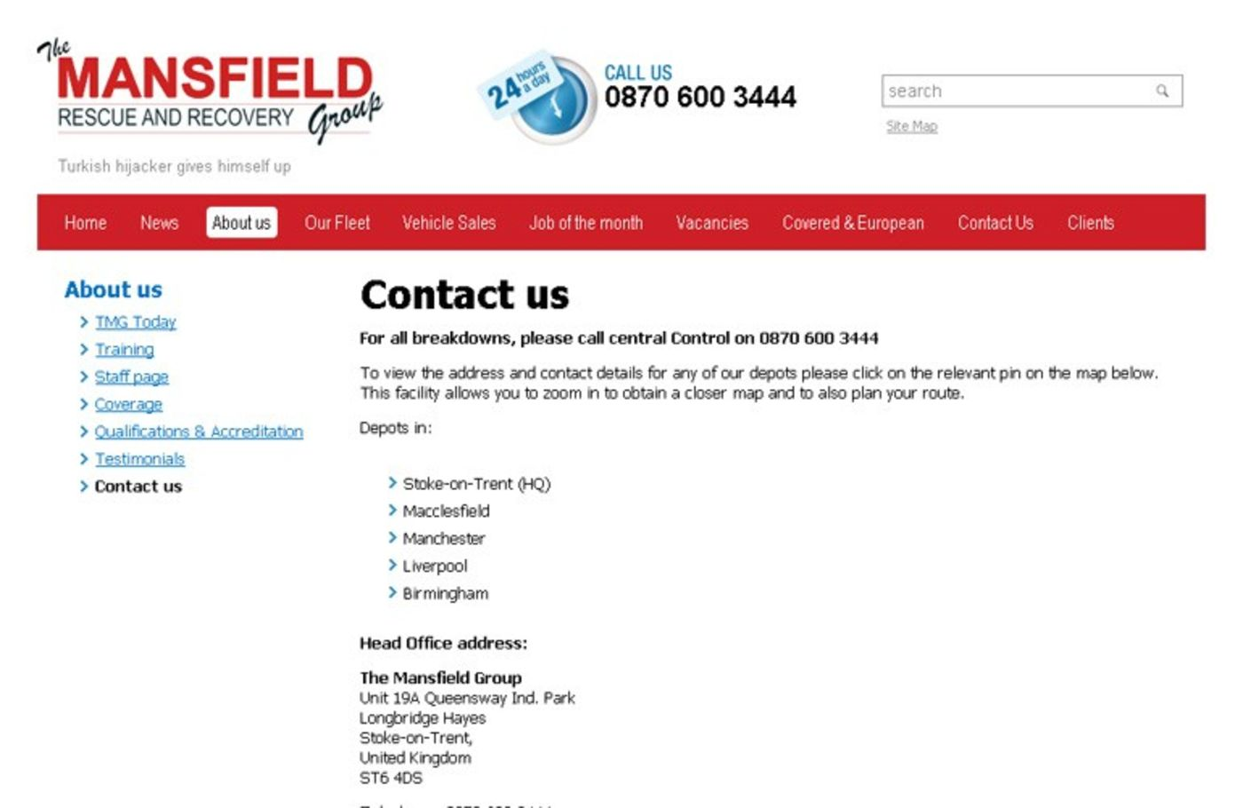The Mansfield Group Contact us