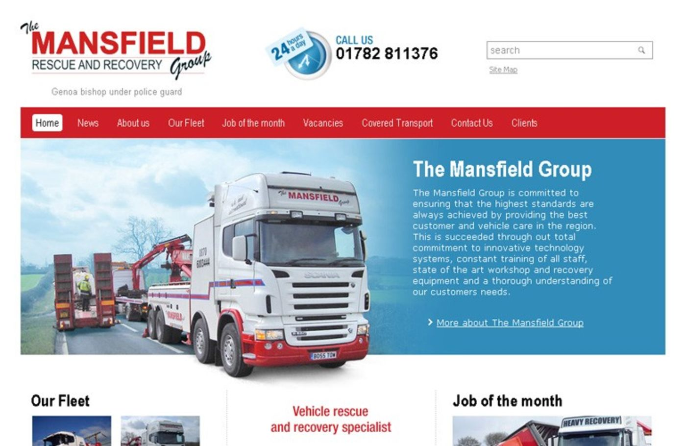 The Mansfield Group Homepage header