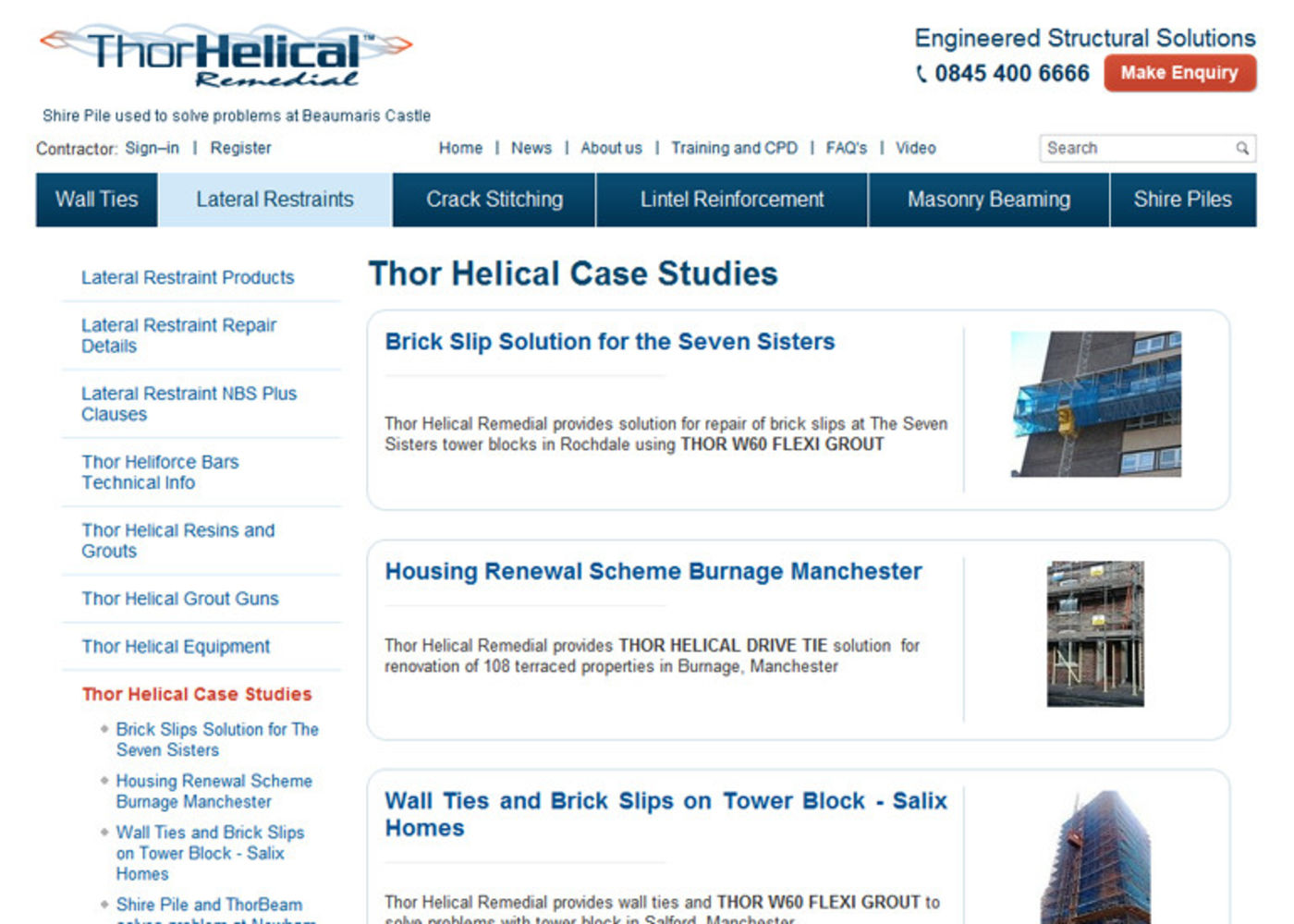 Thor Helical Remedial Case Studies