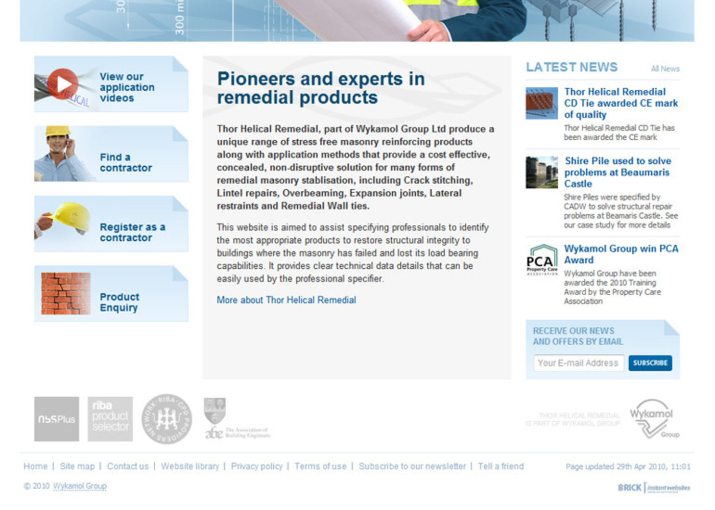 Thor Helical Remedial Homepage footer